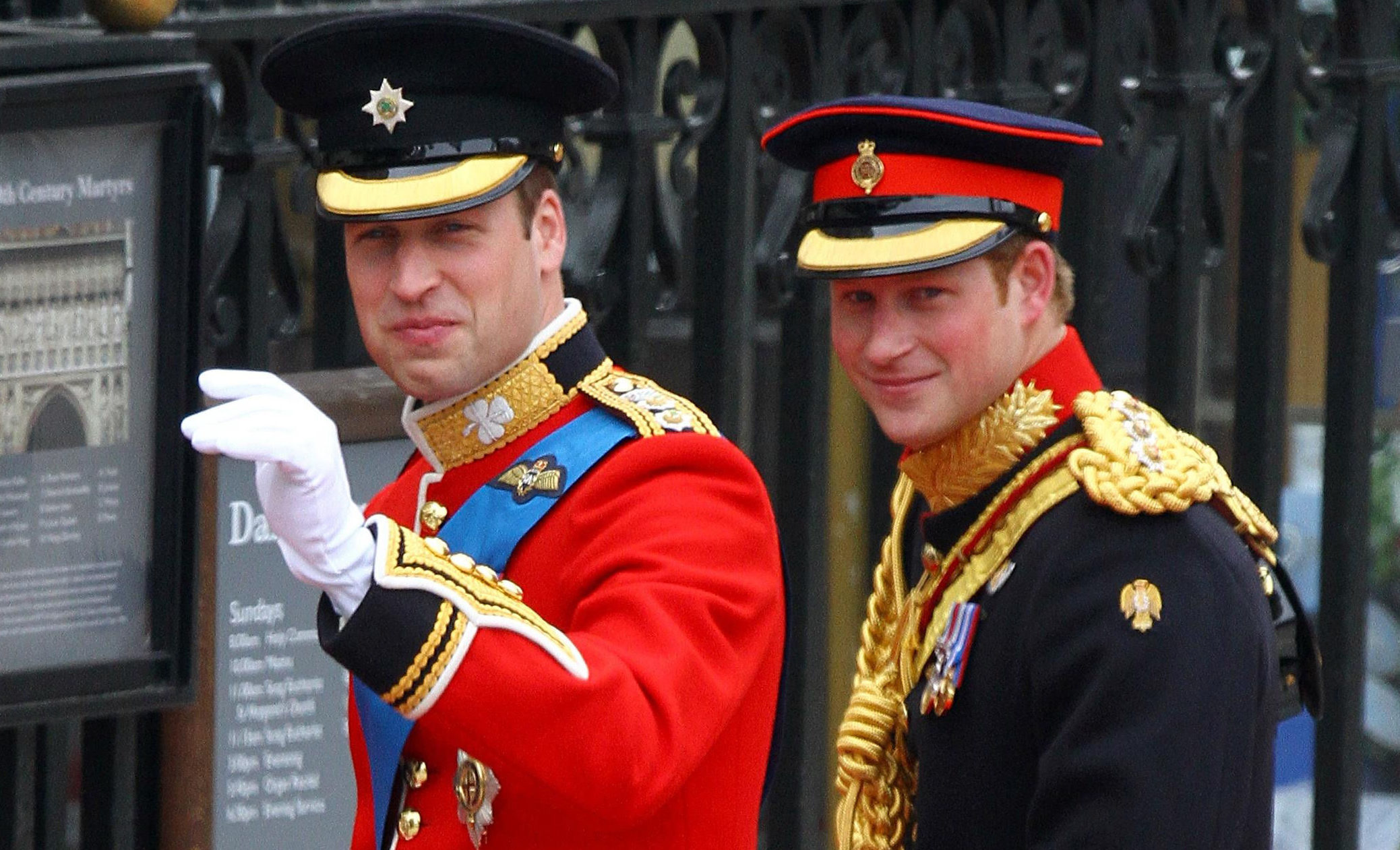 Harry and William at 2011's Royal Wedding (Gareth Fuller/PA Wire)