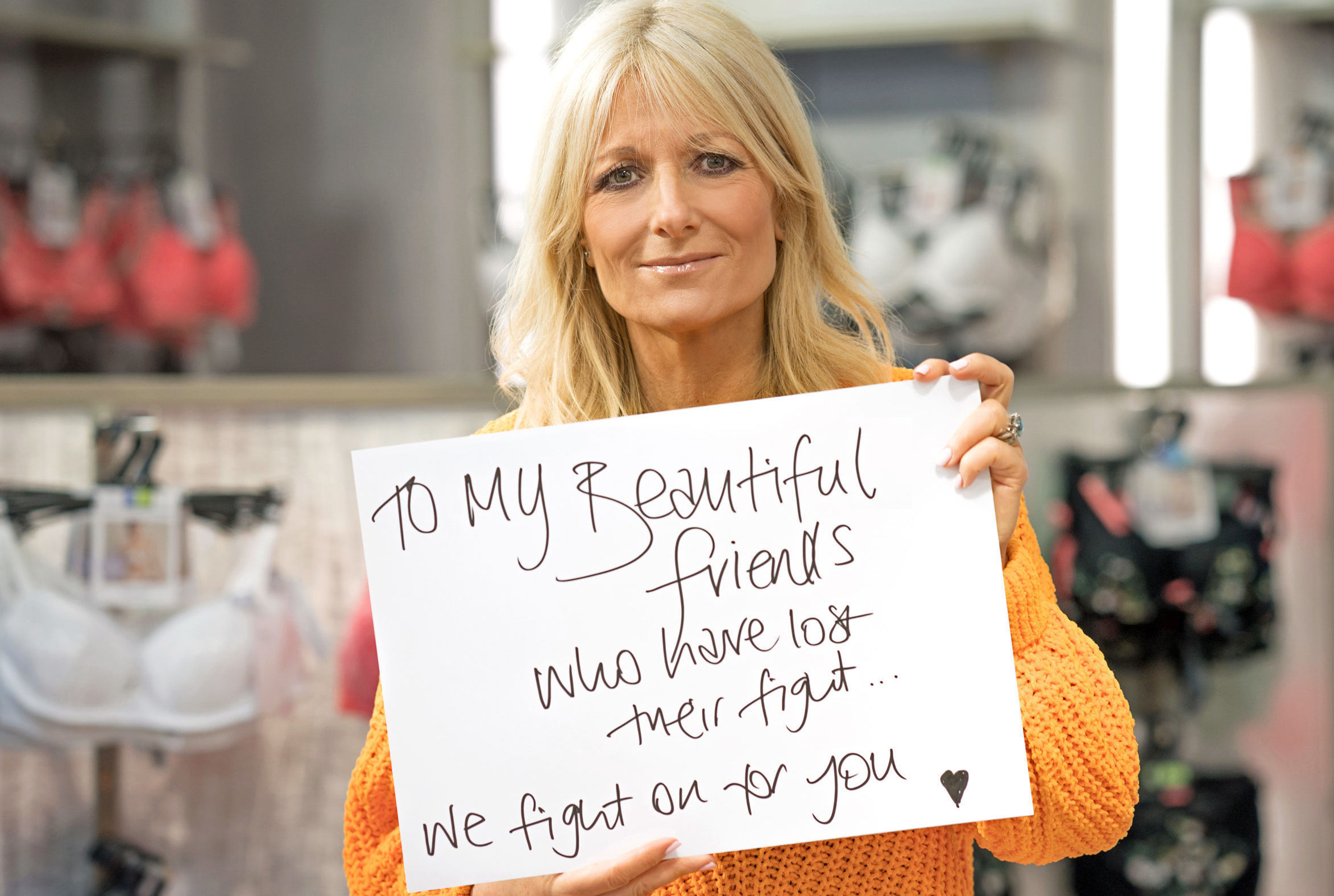 Presenter Gaby Roslin, who has lost female friends to breast cancer (Breast Cancer Now/PA Wire)