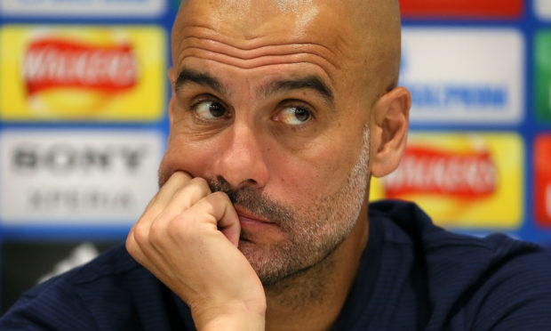 Manchester City manager Pep Guardiola. (Richard Sellers/PA Wire)
