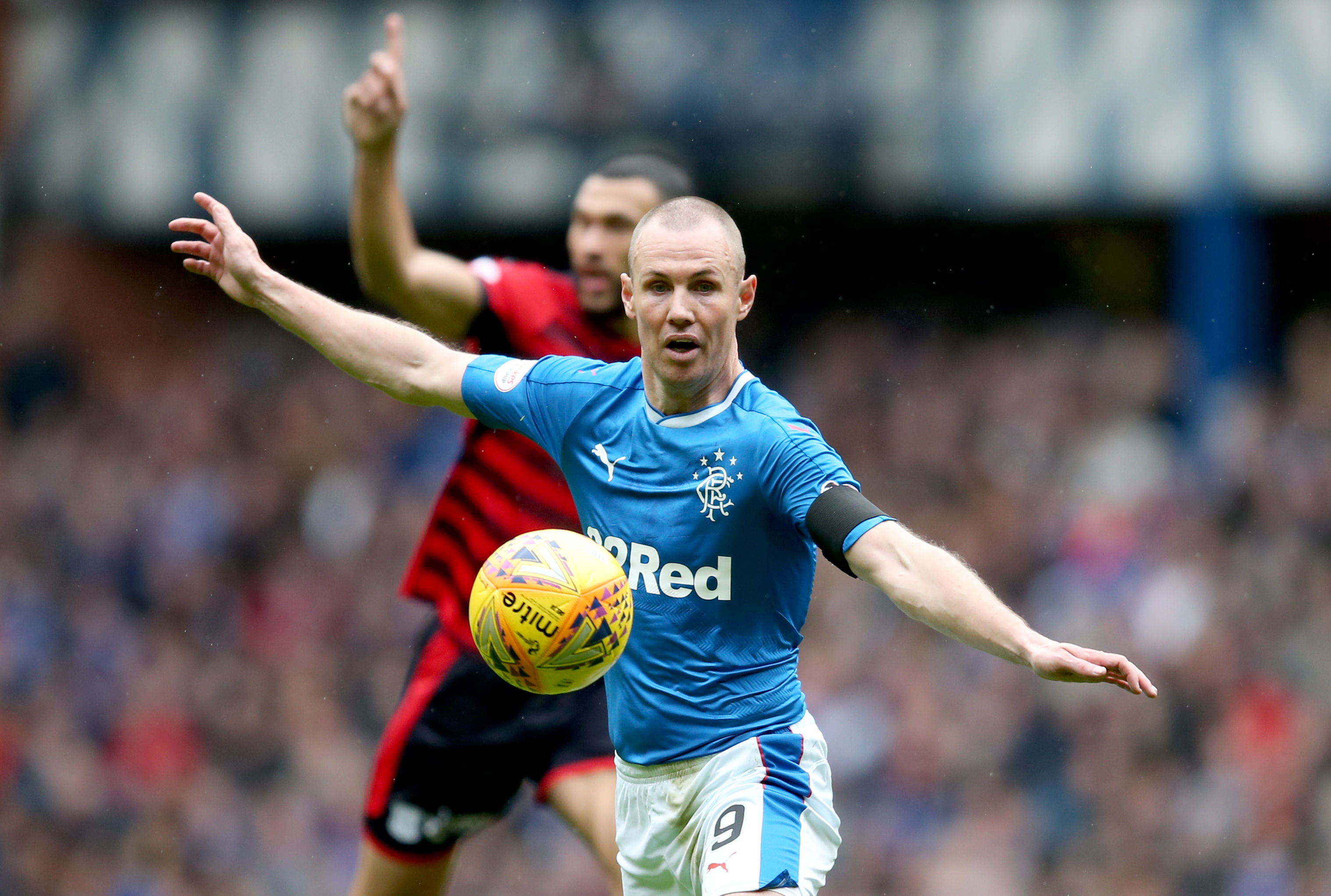 Rangers' Kenny Miller during the Ladbrokes Scottish Premiership match at the Ibrox Stadium, Glasgow. (Jane Barlow/PA Wire)
