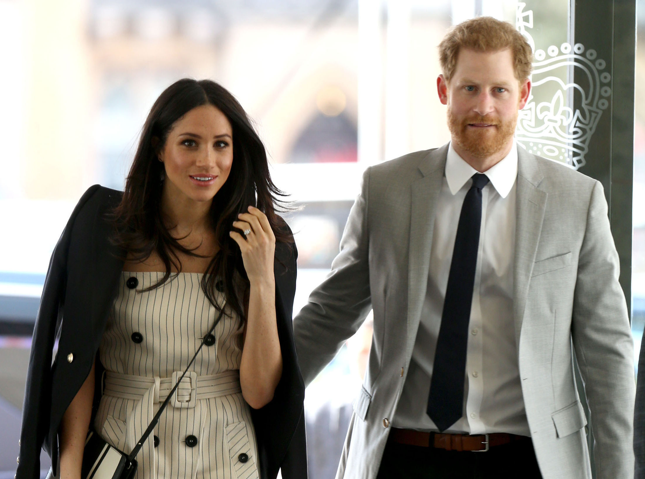 Meghan Markle and Prince Harry arrive at the Queen Elizabeth II Conference Centre in London (Yui Mok/PA)