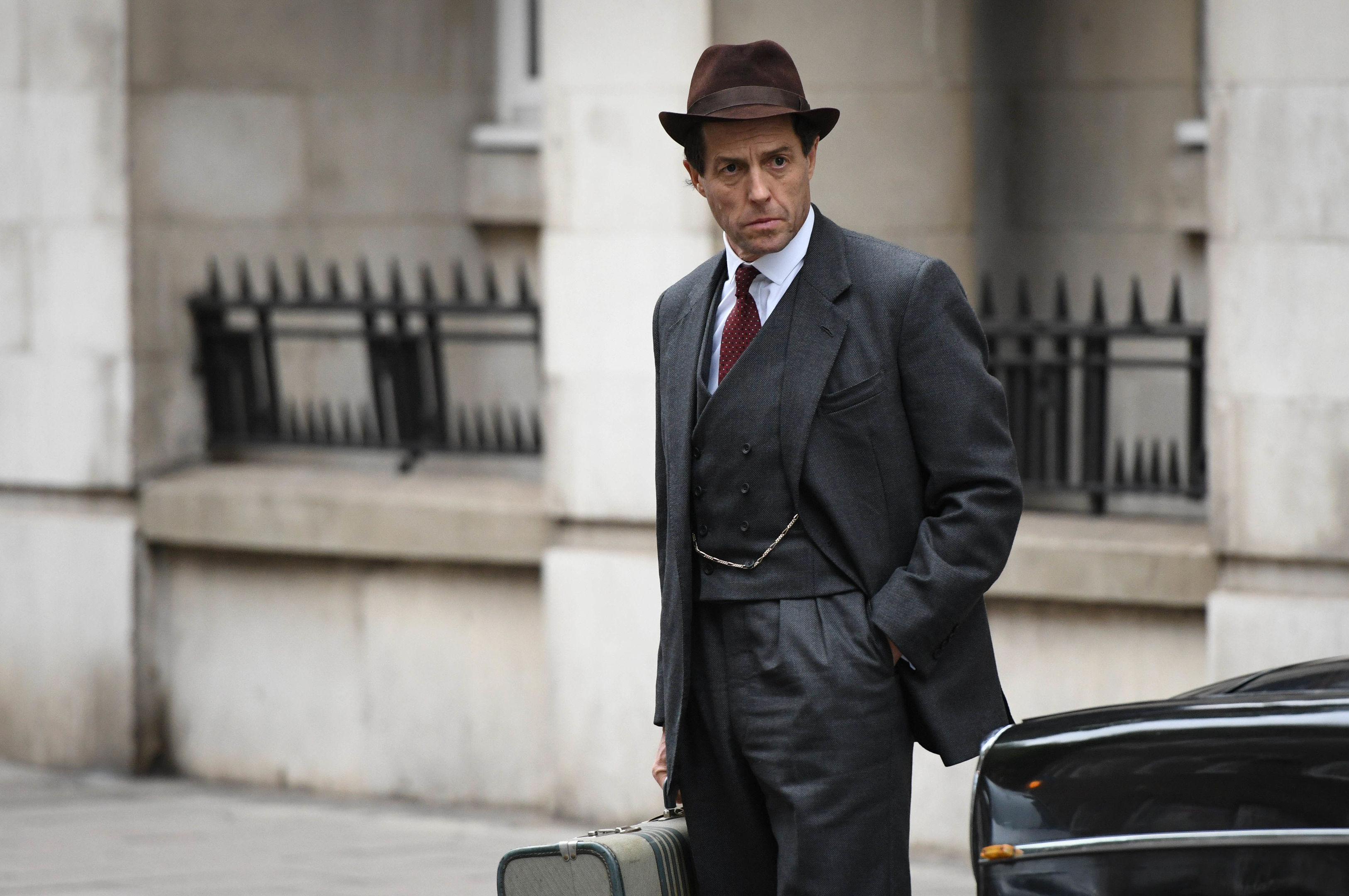Hugh Grant as Jeremy Thorpe (PA Photo/BBC/Blueprint Television Ltd/Kieron McCarron)