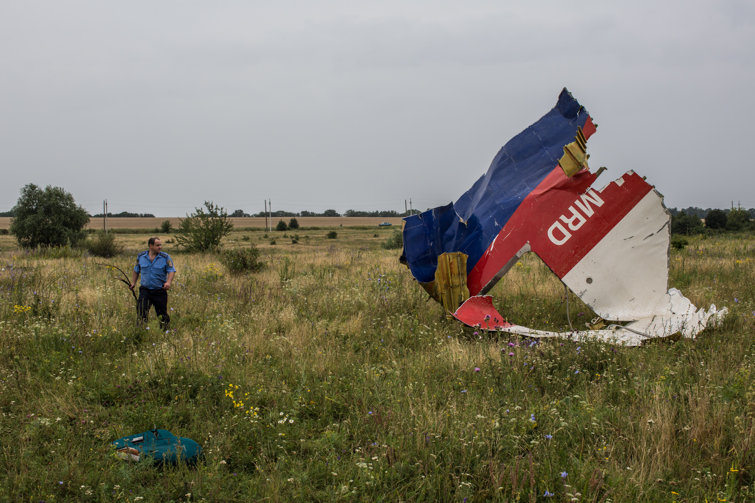 Wreckage of flight MH17 (Brendan Hoffman/Getty Images)