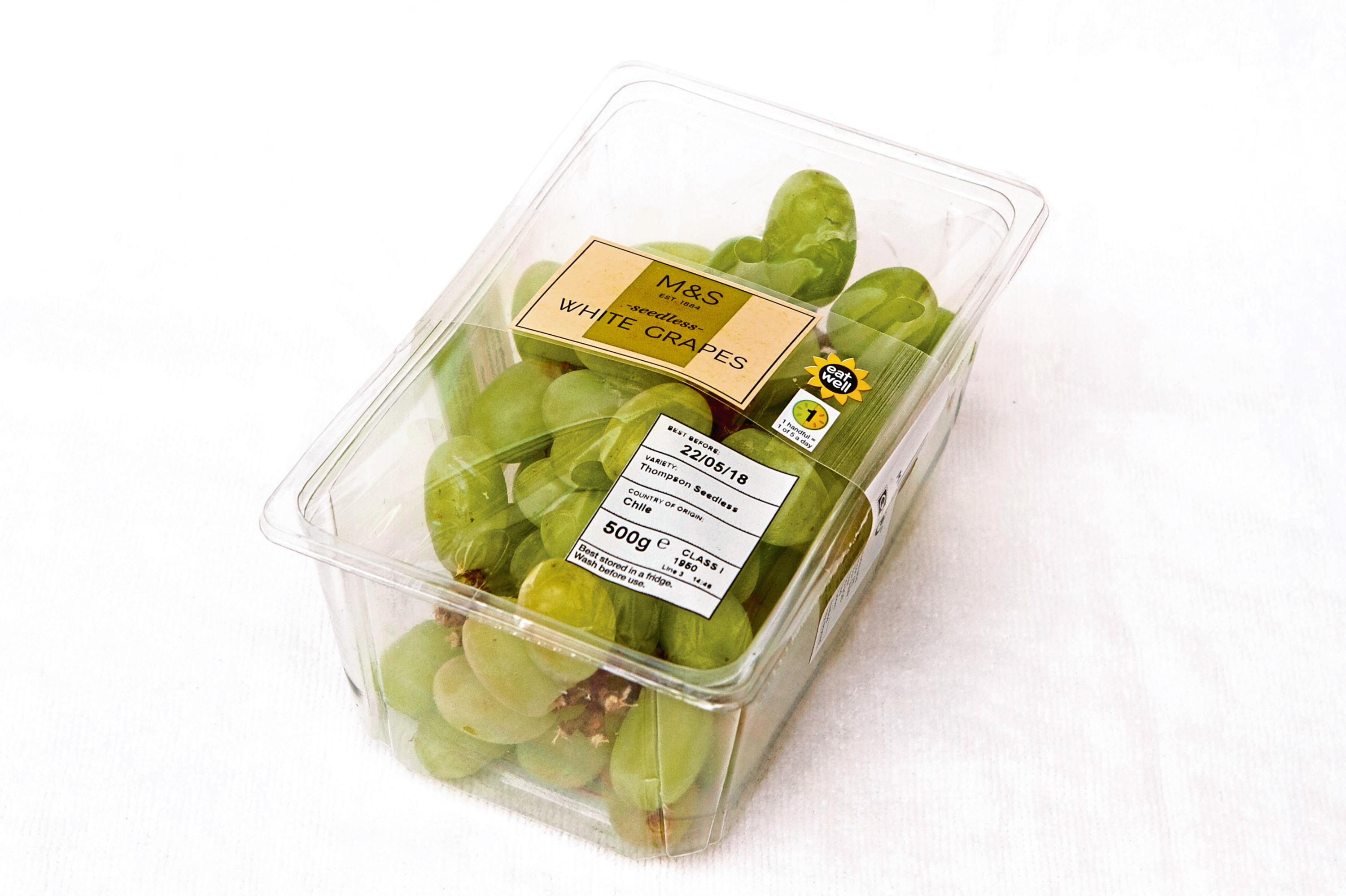These grapes cost £2.80 in a hospital shop compared to £2.75 on the high street