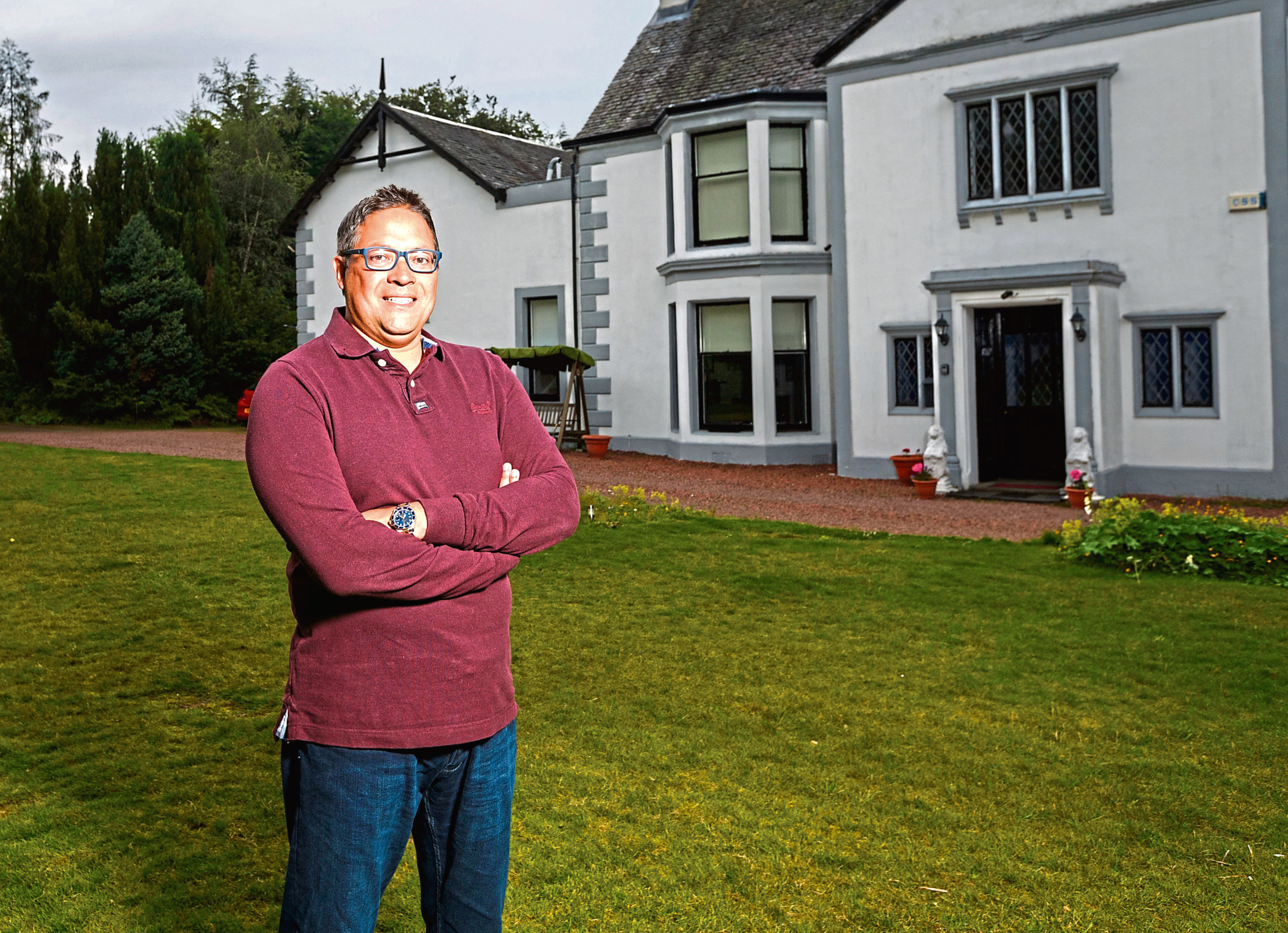 Shamus and his wife Angie are now renting Dullatur House as a holiday home for £260 a night (Roddy Scott Photography)