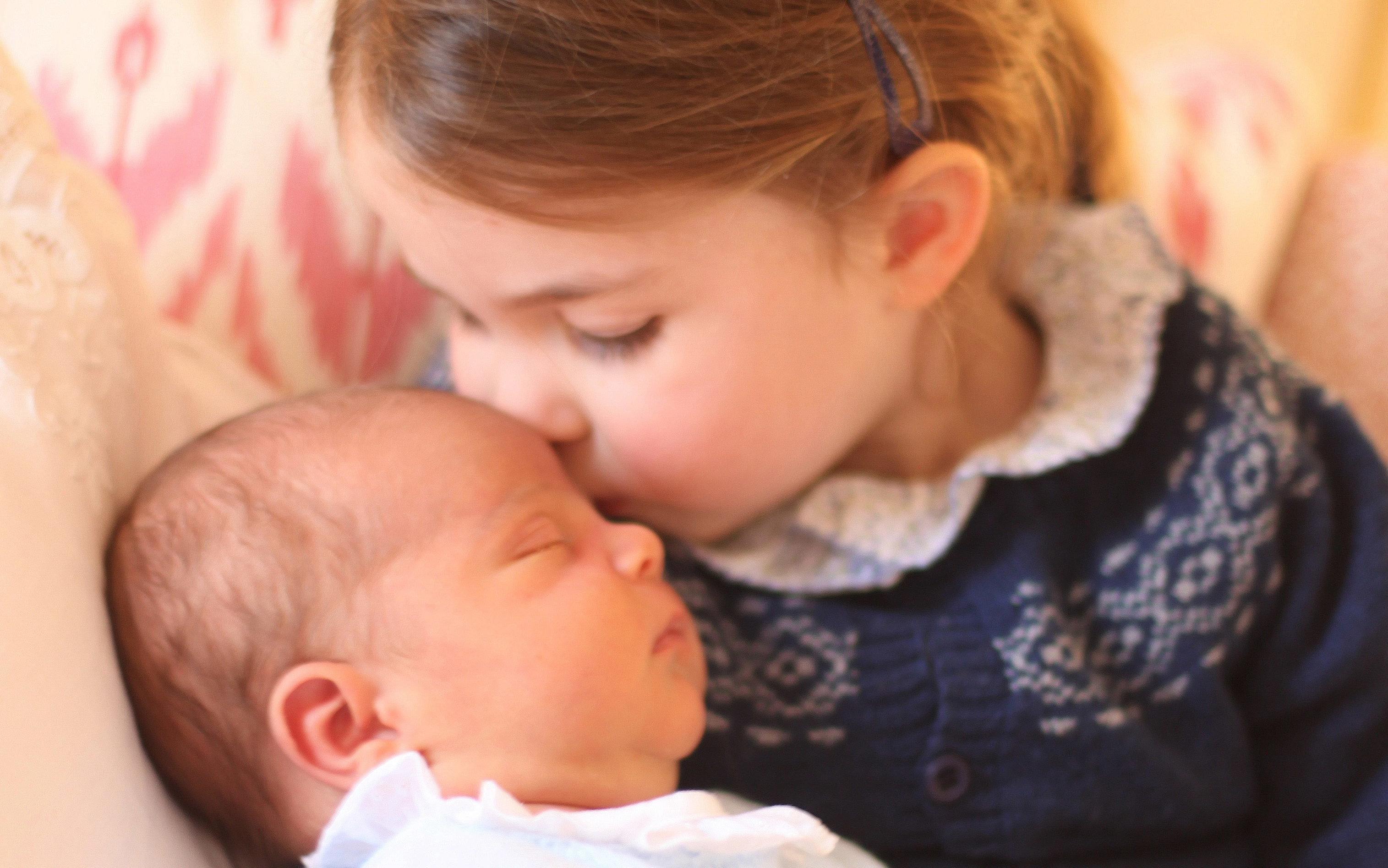 Princess Charlotte with her brother Prince Louis in a photo taken by the Duchess of Cambridge on Princess Charlotte's third birthday (HRH Duchess of Cambridge via Getty Images)