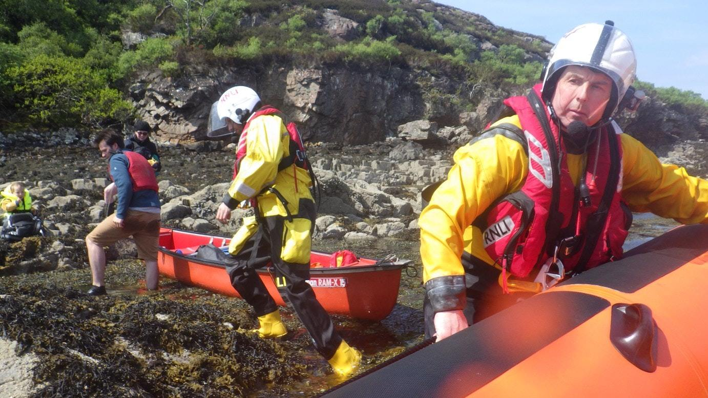 A family who went out canoeing have been rescued today