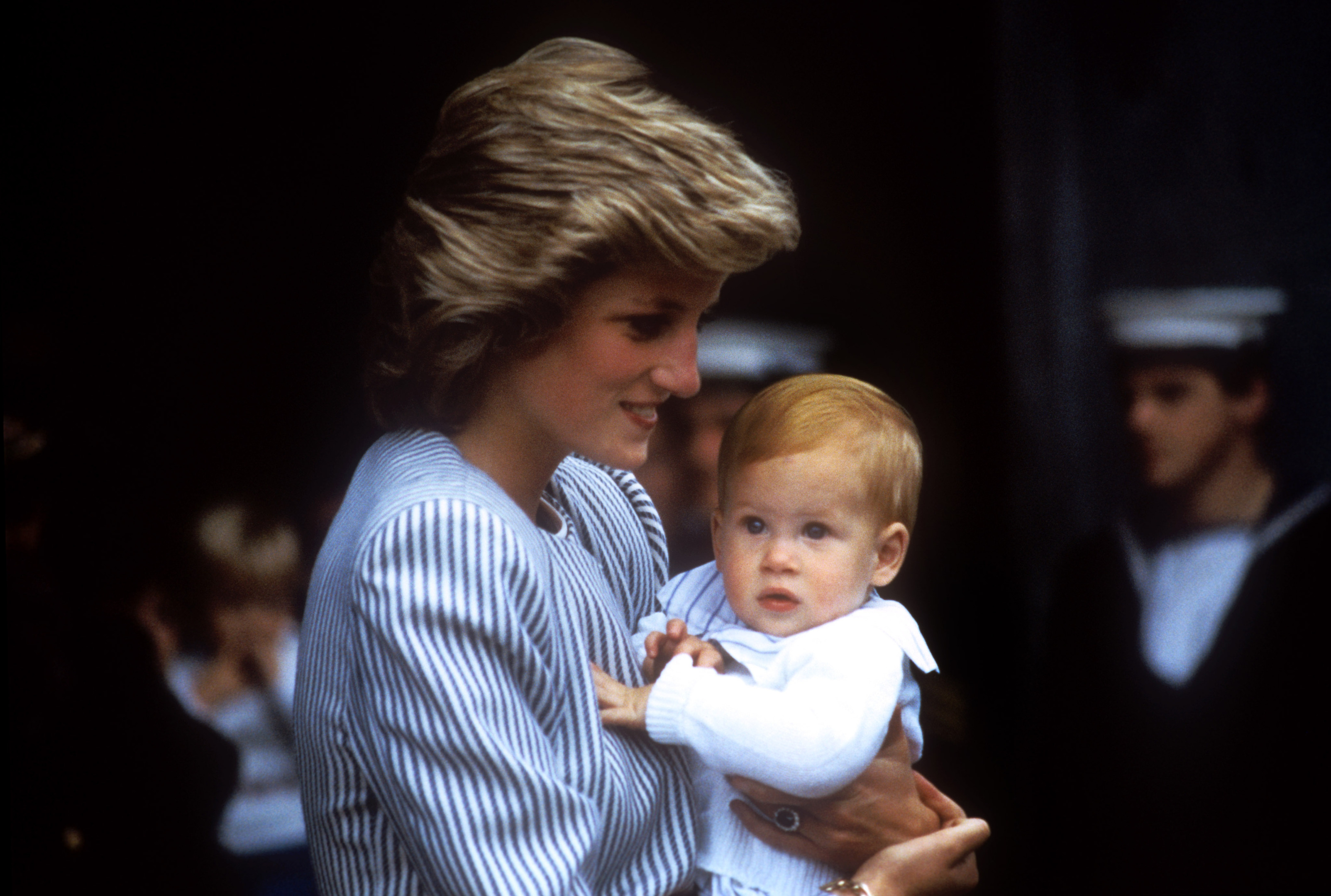Baby Harry with his mother, Diana, the Princess of Wales, whose life would be tragically cut short in a car accident in Paris in 1997 (PA)
