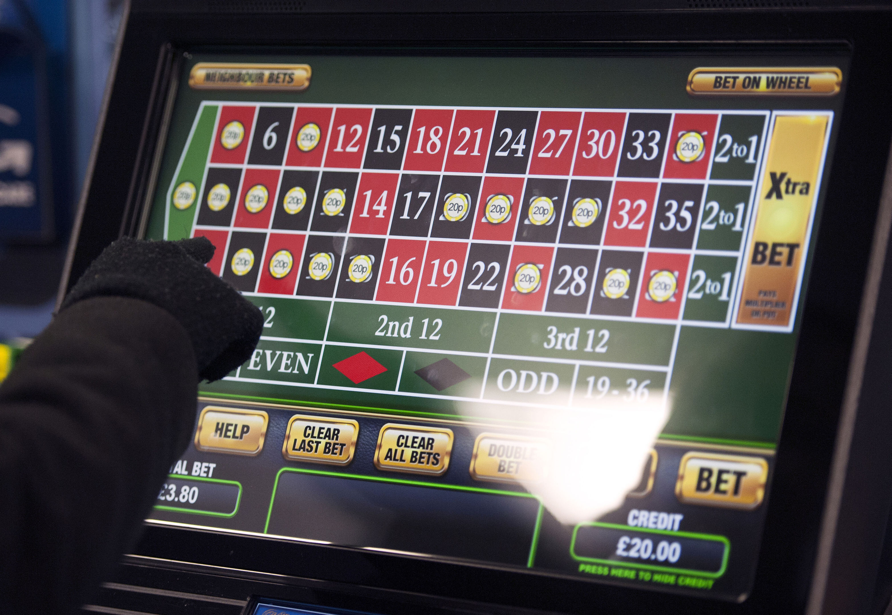 A gambling machine (Daniel Hambury/PA Wire)