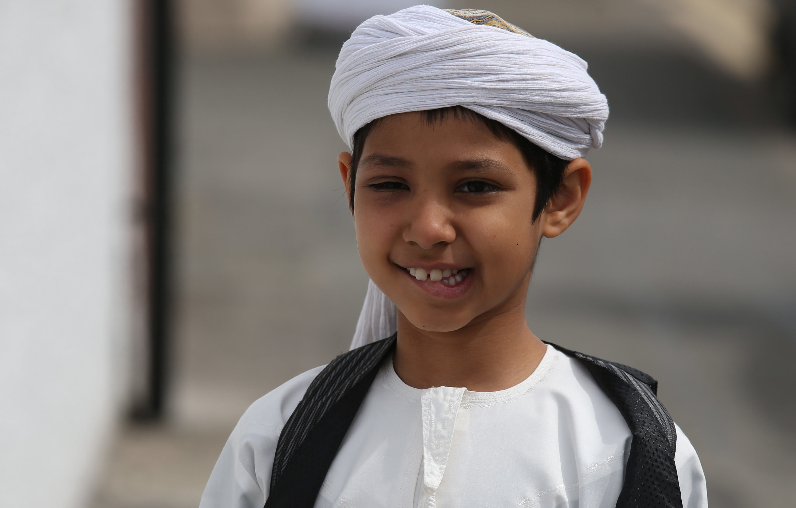 A young member of the Muslim community in Stornoway attends the official opening of the first mosque in the Outer Hebrides (Andrew Milligan/PA Wire)