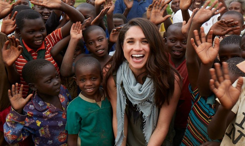 Meghan travelled to Rwanda in 2016 with World Vision to see the importance of clean water