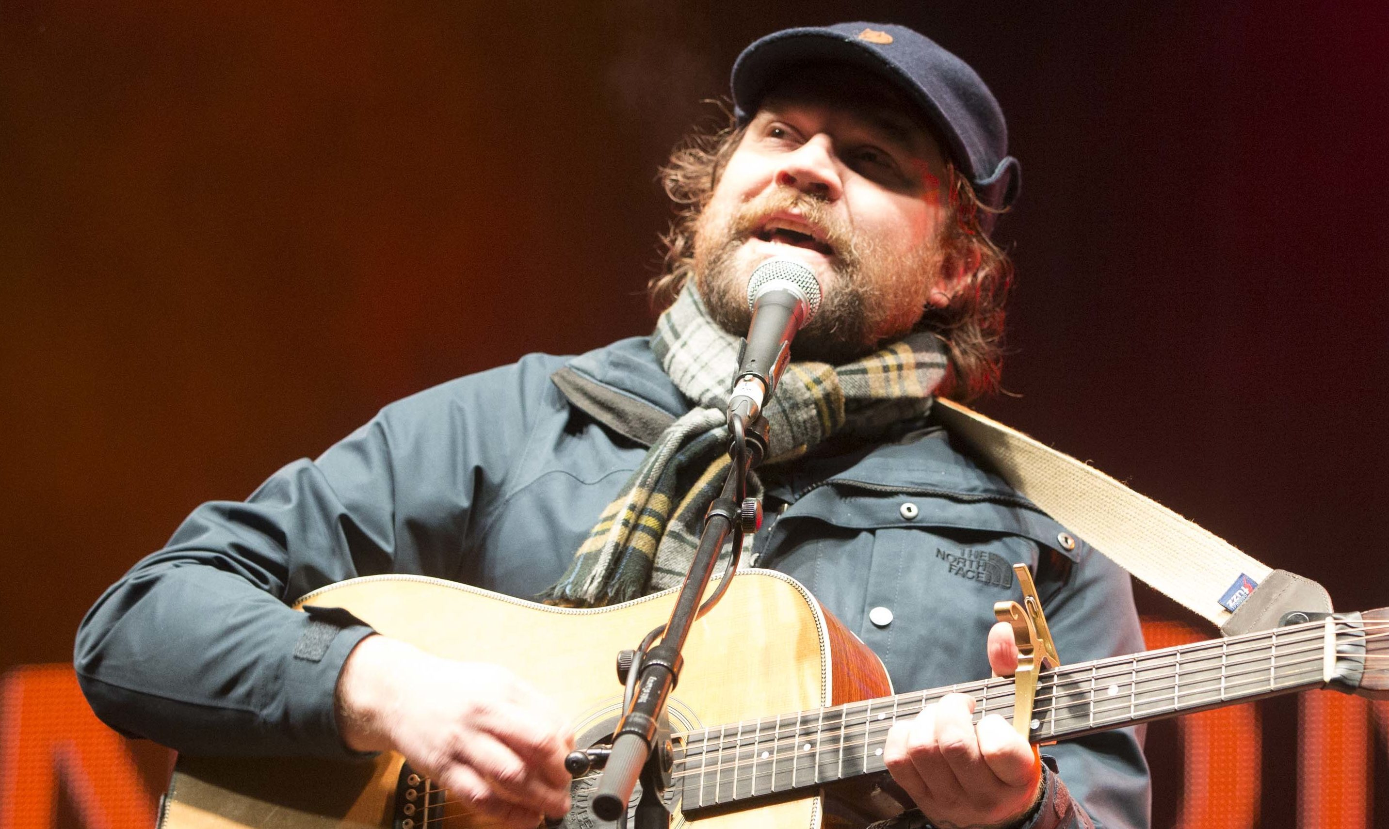 Scott Hutchison performs with Frightened Rabbit at Sleep In The Park (Jeff Holmes)