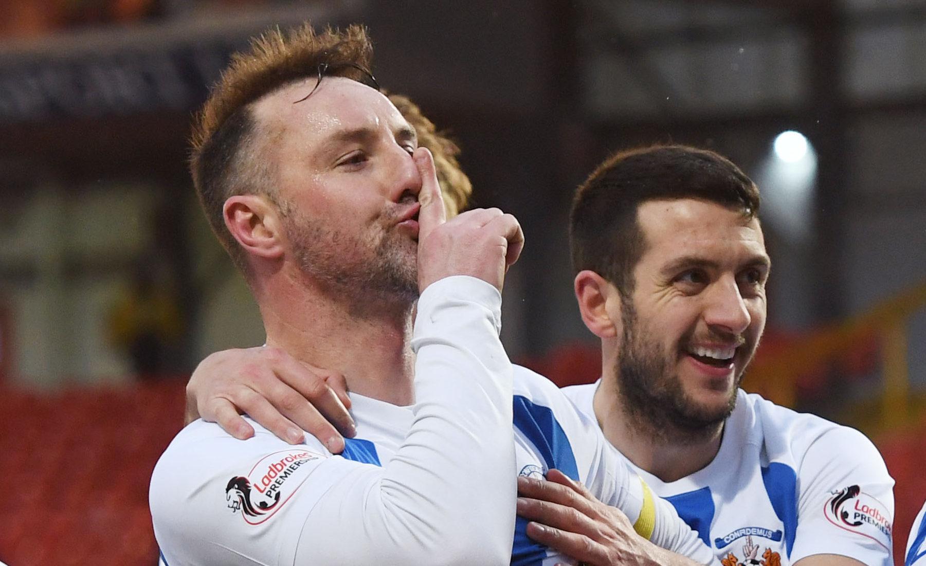 Kilmarnock's Kris Boyd celebrates one of his many goals last season (SNS Group)