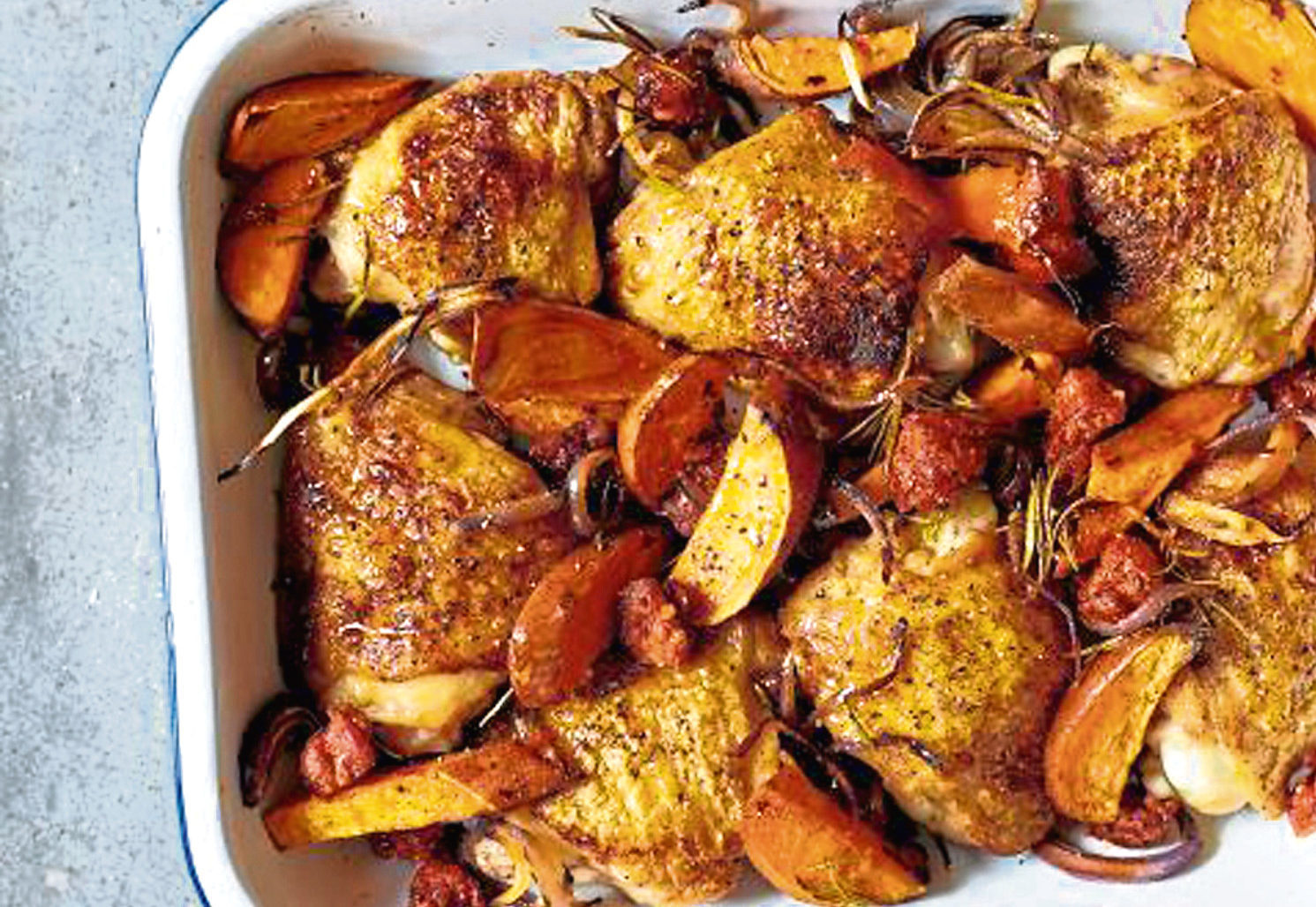 Chicken and chorizo bake, from Britain's Best Home Cook