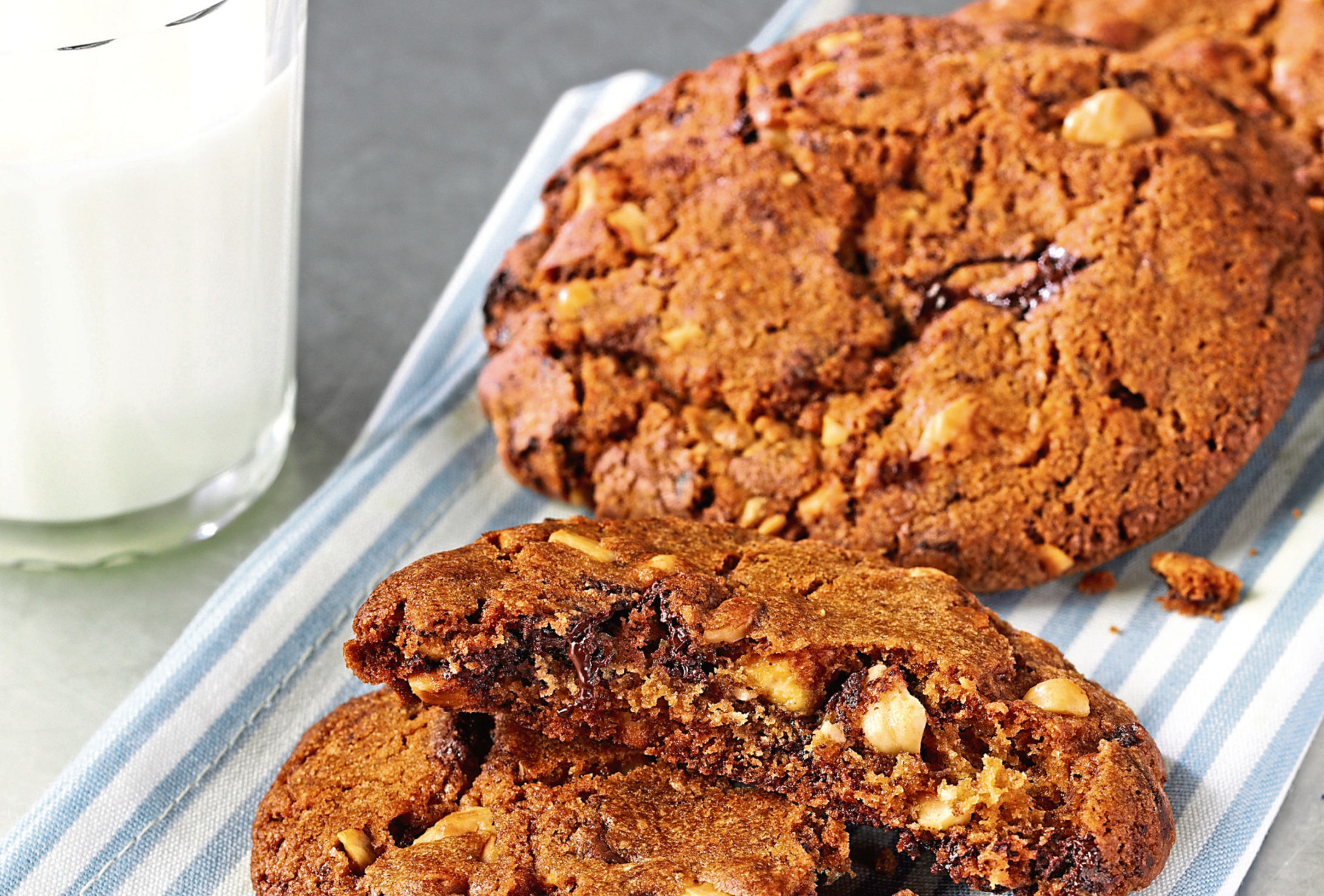 Triple chocolate and hazelnut cookies recipe from Tate & Lyle