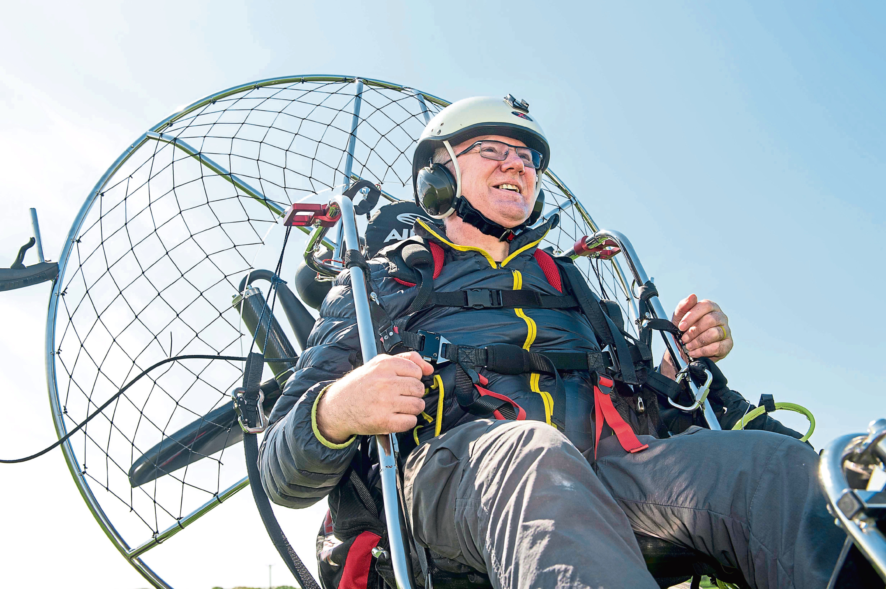Intrepid adventurer John is back in the skies after breaking his