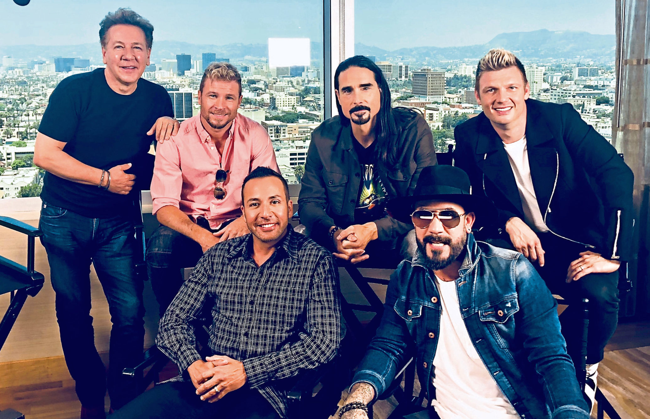 Ross King with the Backstreet Boys