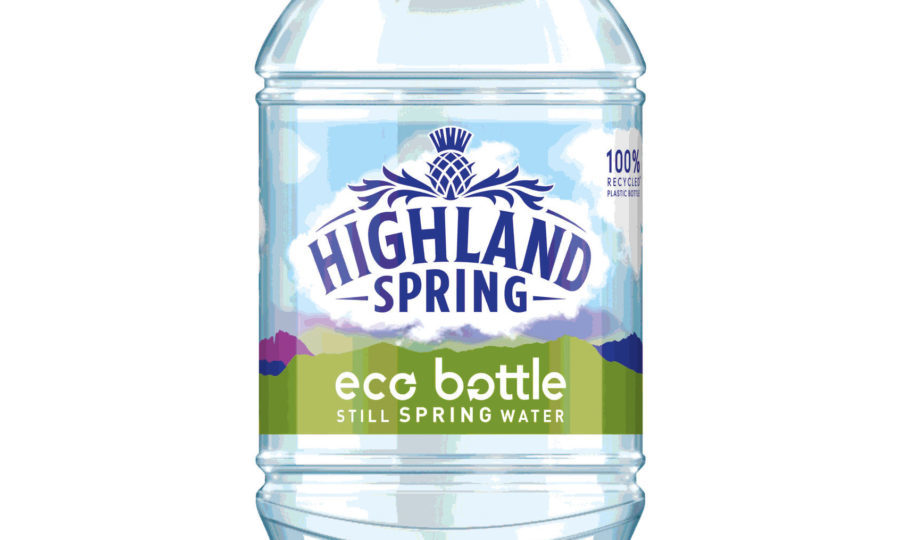 Image result for highland spring 100 recycled