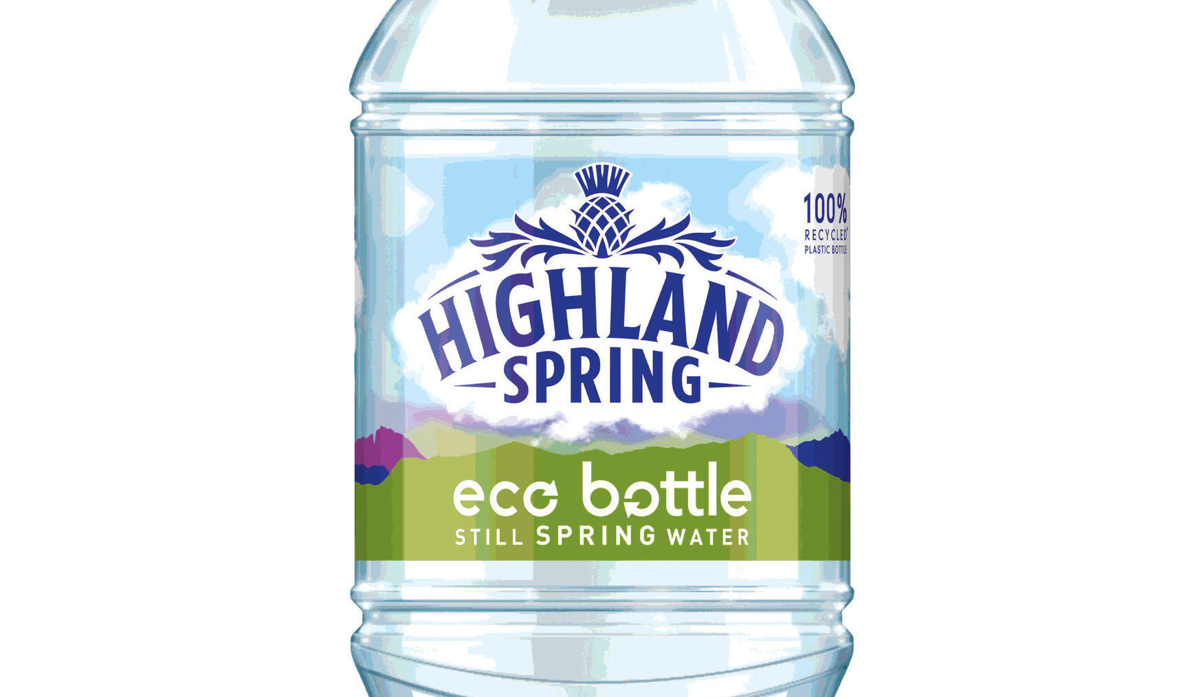 A Highland Spring 'eco bottle', made of 100% recycled plastic (Highland Spring/PA Wire)