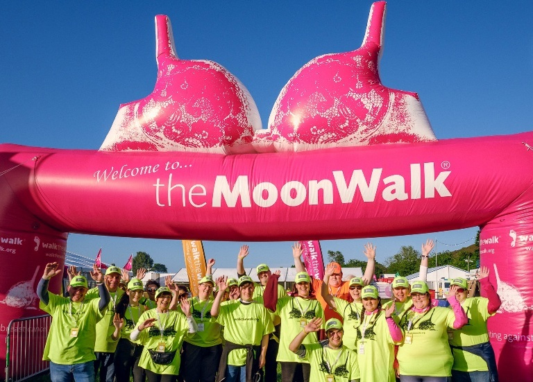 The MoonWalk event takes place on Saturday night into Sunday morning