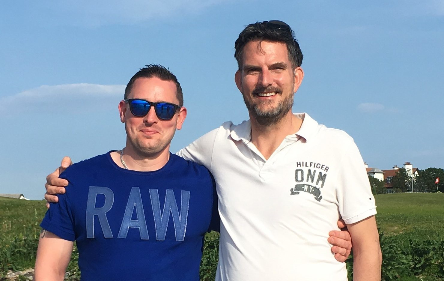 David (left) and Brett finally meet face to face