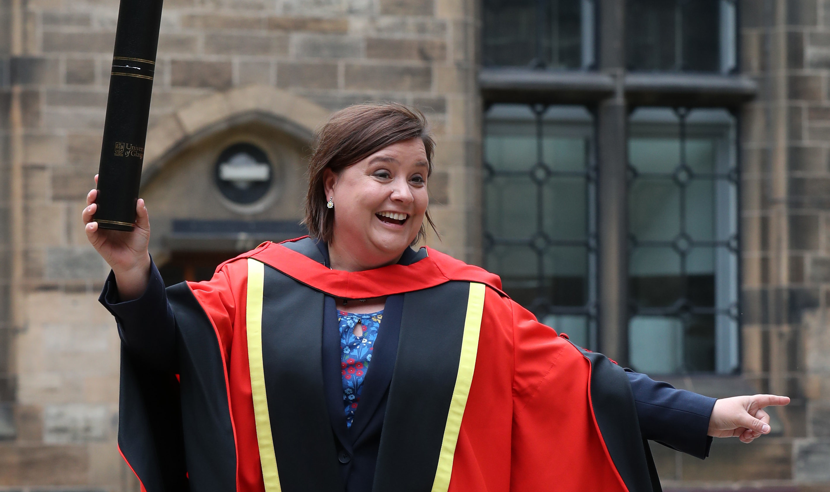 Comedian and broadcaster Susan Calman was awarded her degree for her work not only as a broadcaster and comedian but for for highlighting mental health issues and LGBT rights (Andrew Milligan/PA Wire)
