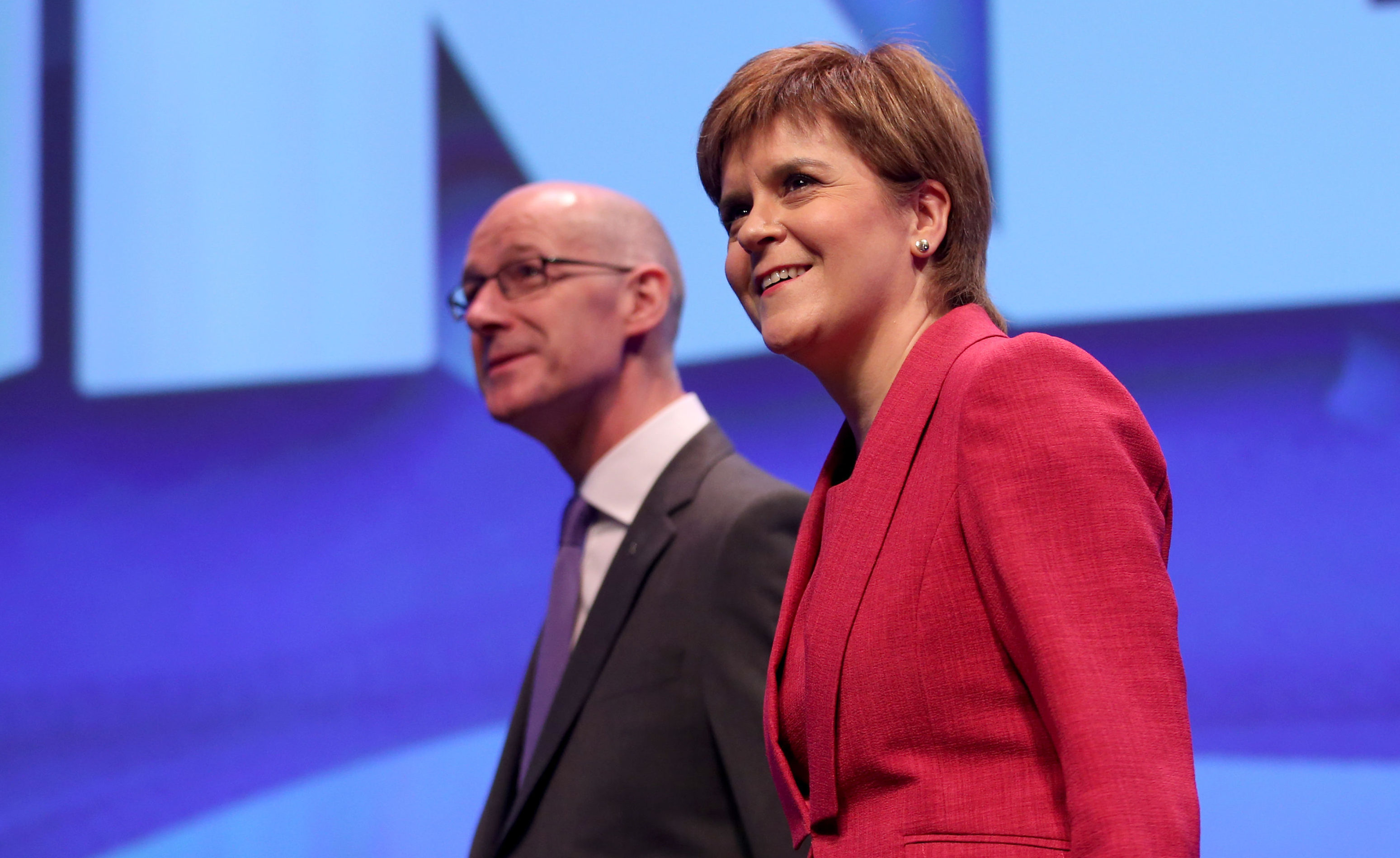 First Minister Nicola Sturgeon and Deputy First Minister John Swinney at the last SNP conference (Jane Barlow/PA Wire)