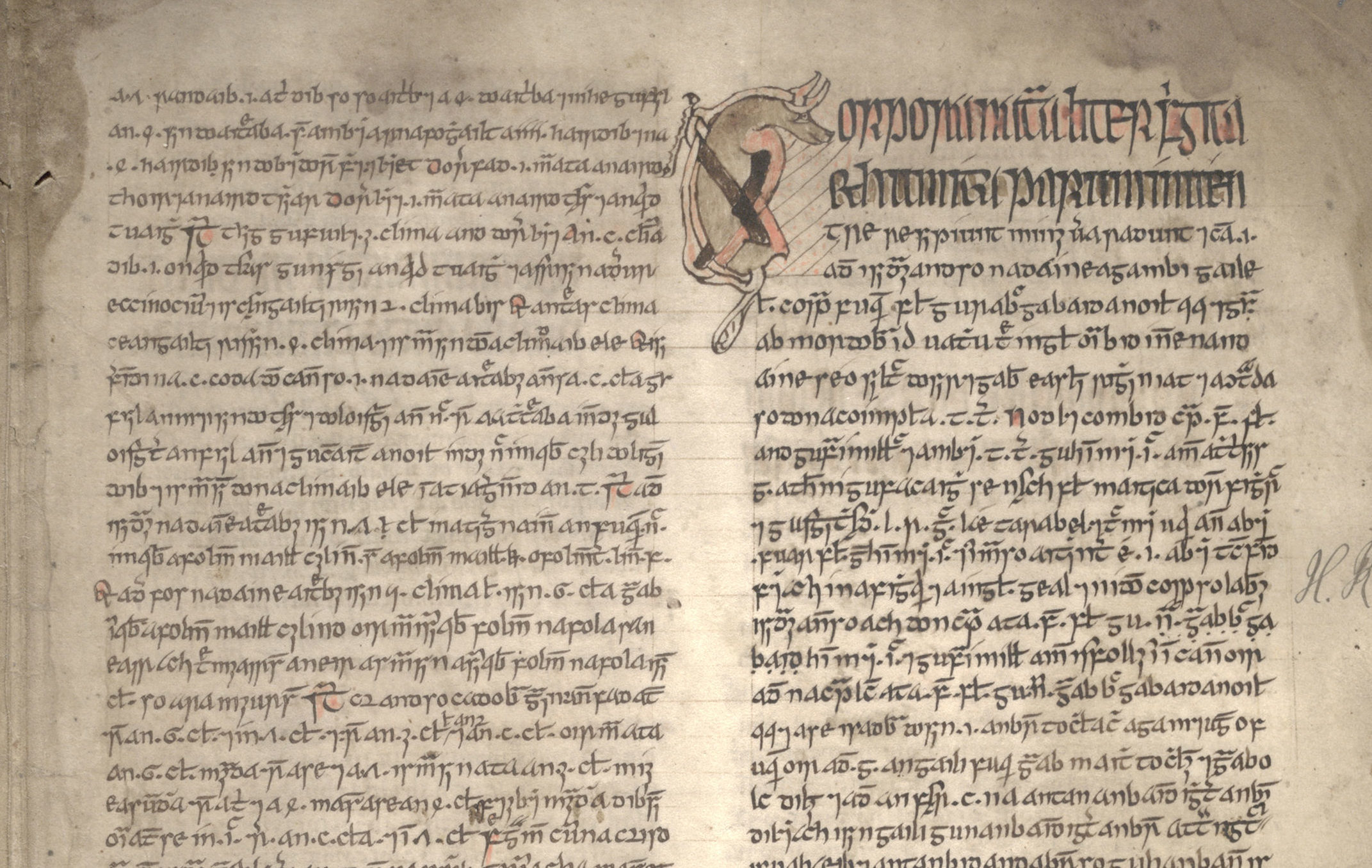 A page from an early Gaelic manuscript (National Library of Scotland/PA Wire)