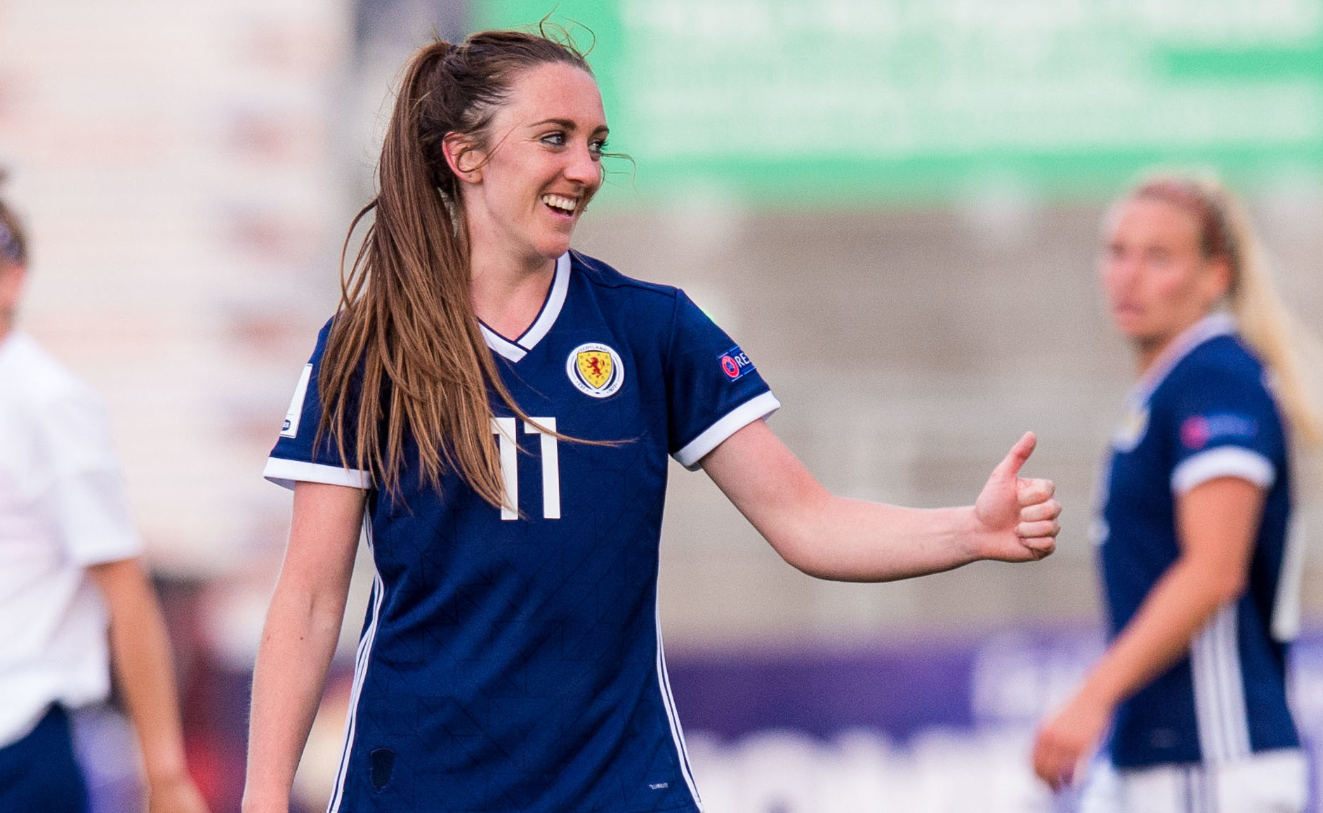 Lisa Evans in action for Scotland (SNS Group / Eric Nicolson)