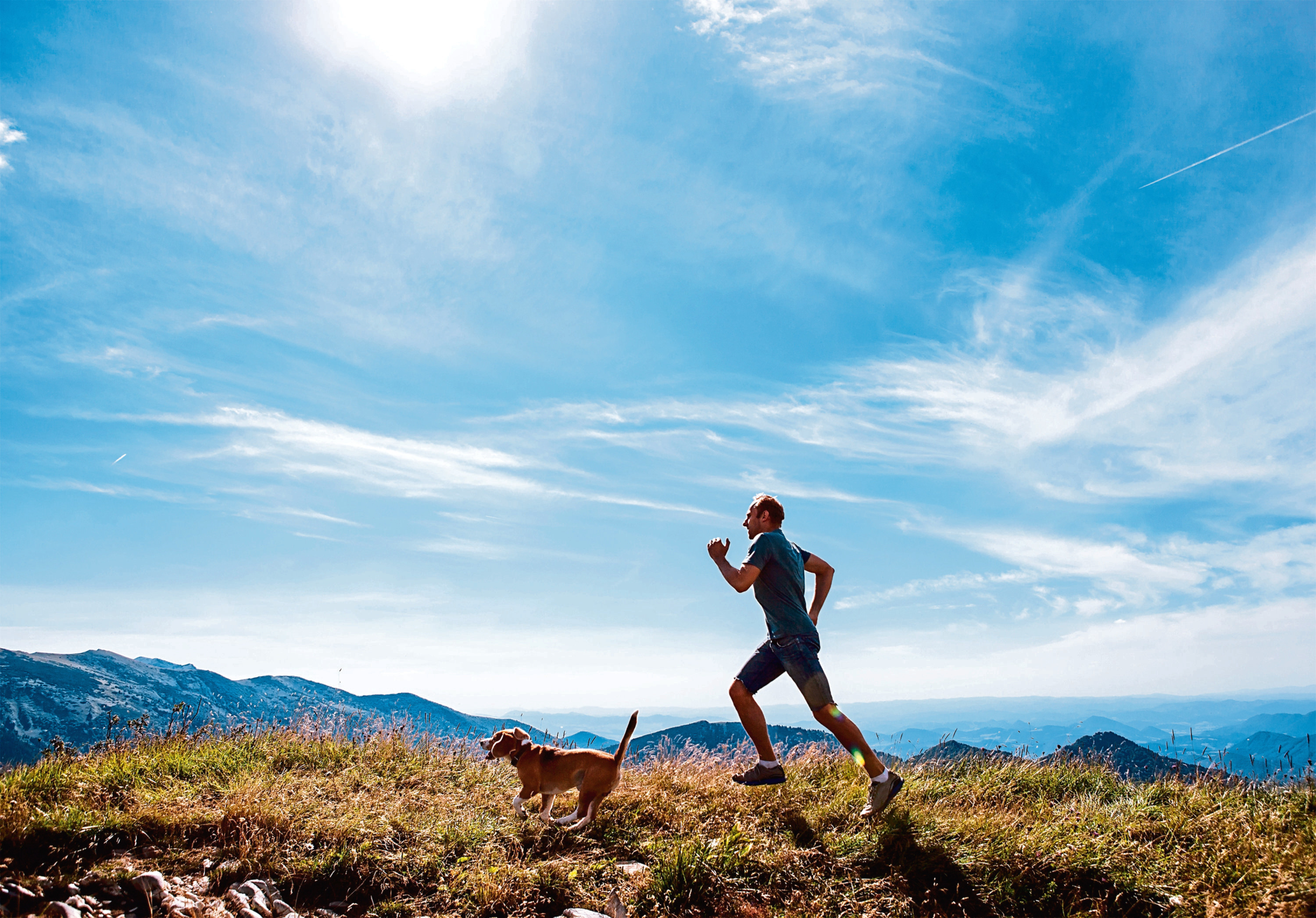 One man, with his dog, experiences the highs of hill running