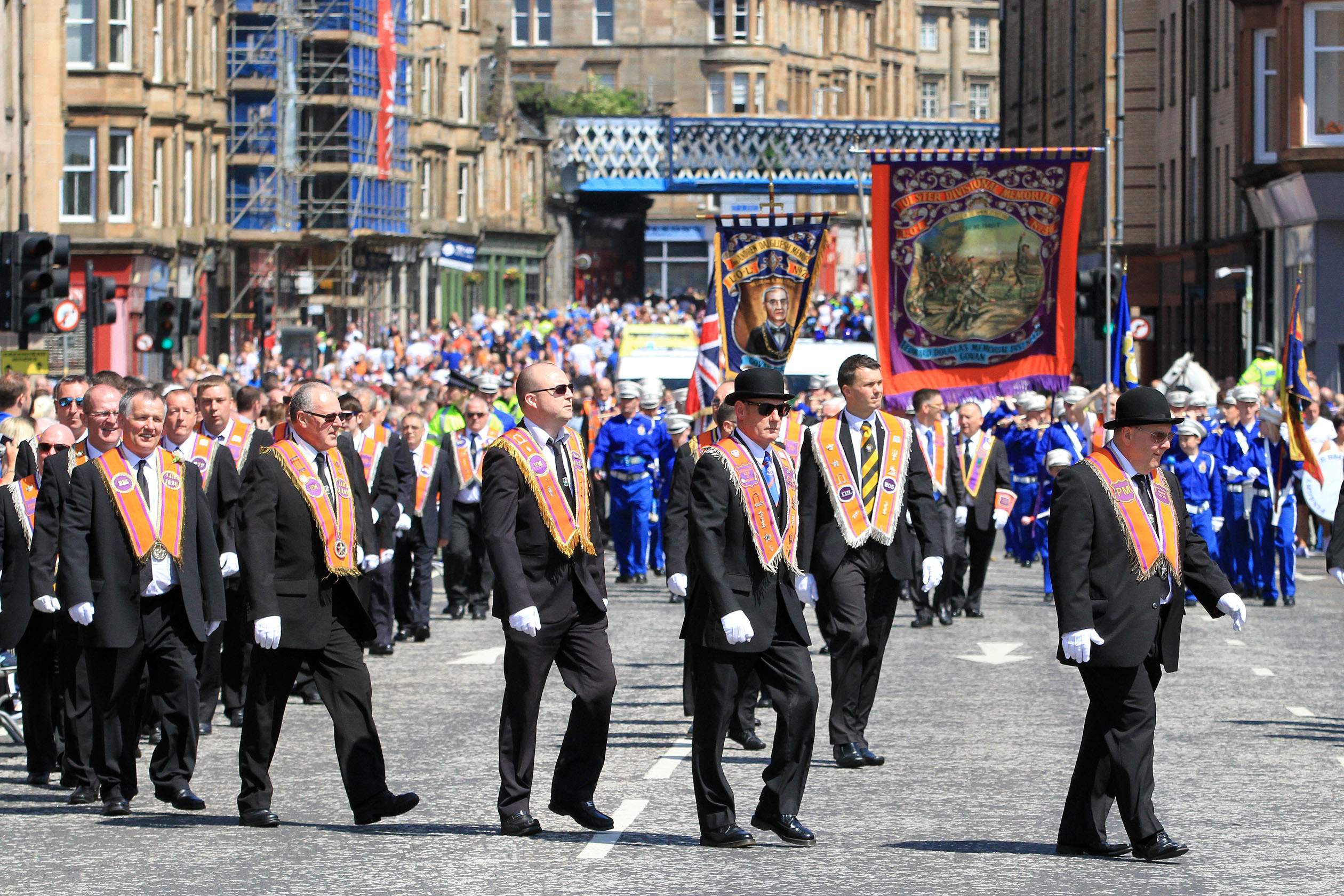 An Orange Order march in Glasgow (Barrie Marshall / DC Thomson)