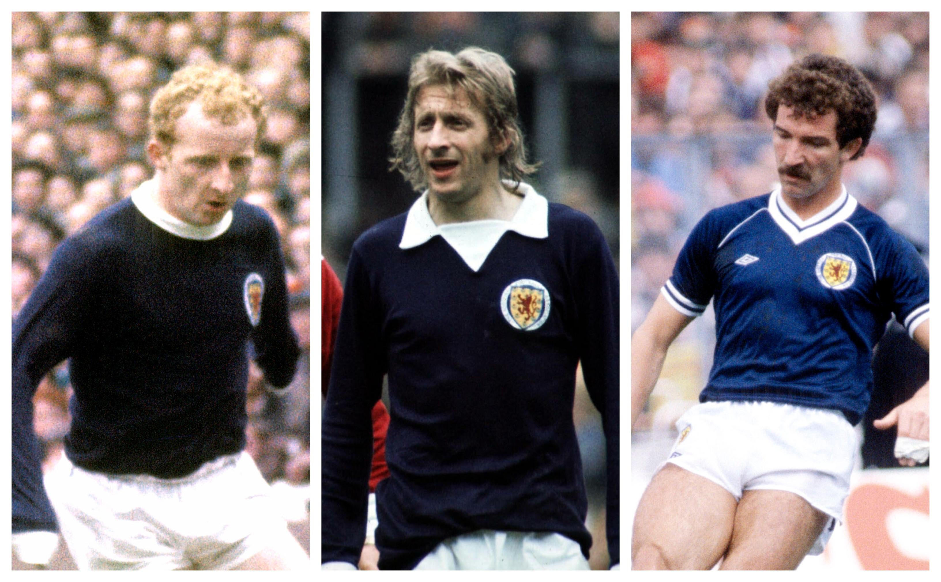 Scotland legends Jimmy Johnstone, Denis Law and Graeme Souness