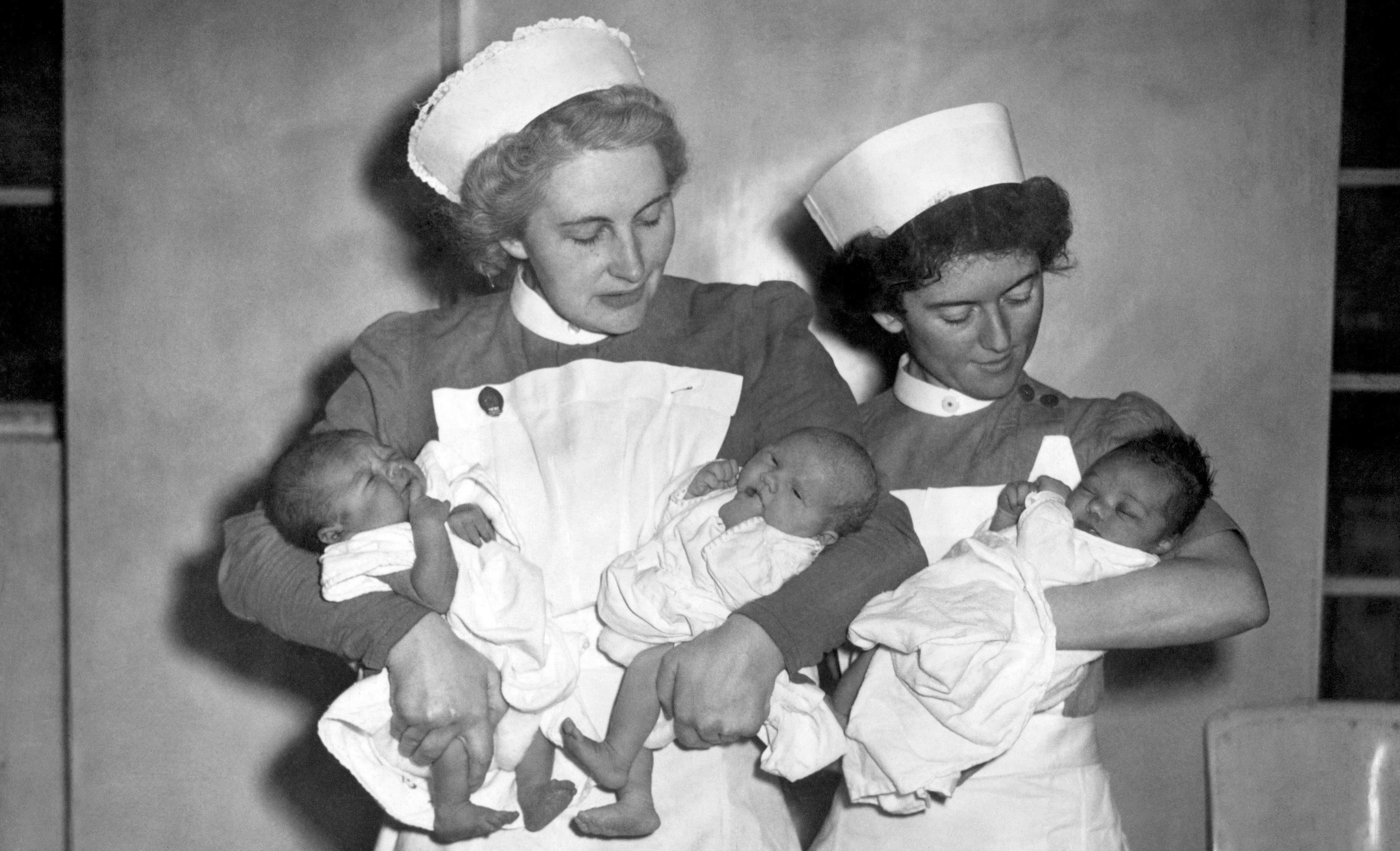 The first babies born under the NHS, 1948 (PA Archive)