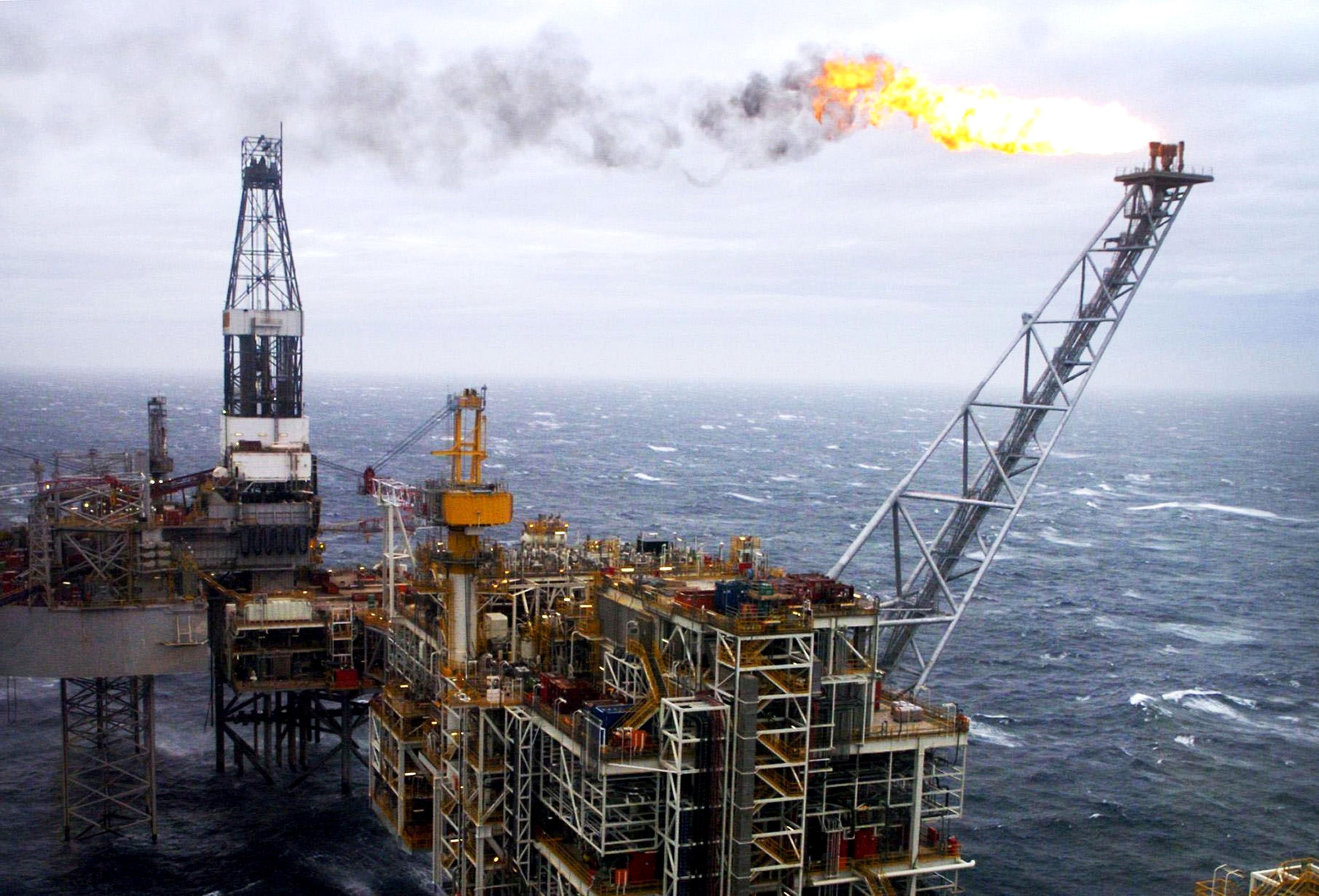 A North Sea oil rig (Danny Lawson/PA Wire)