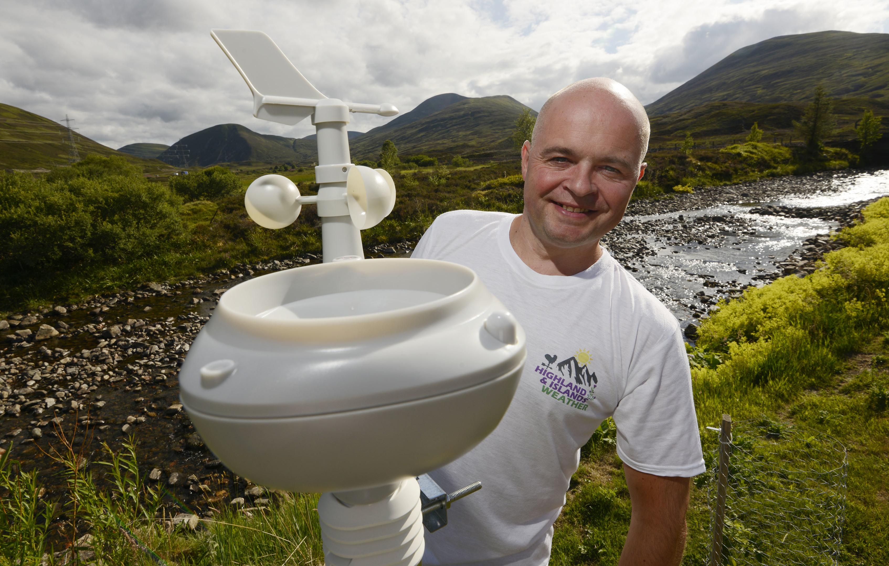 Lee Schofield the weather man. (Iain Ferguson)