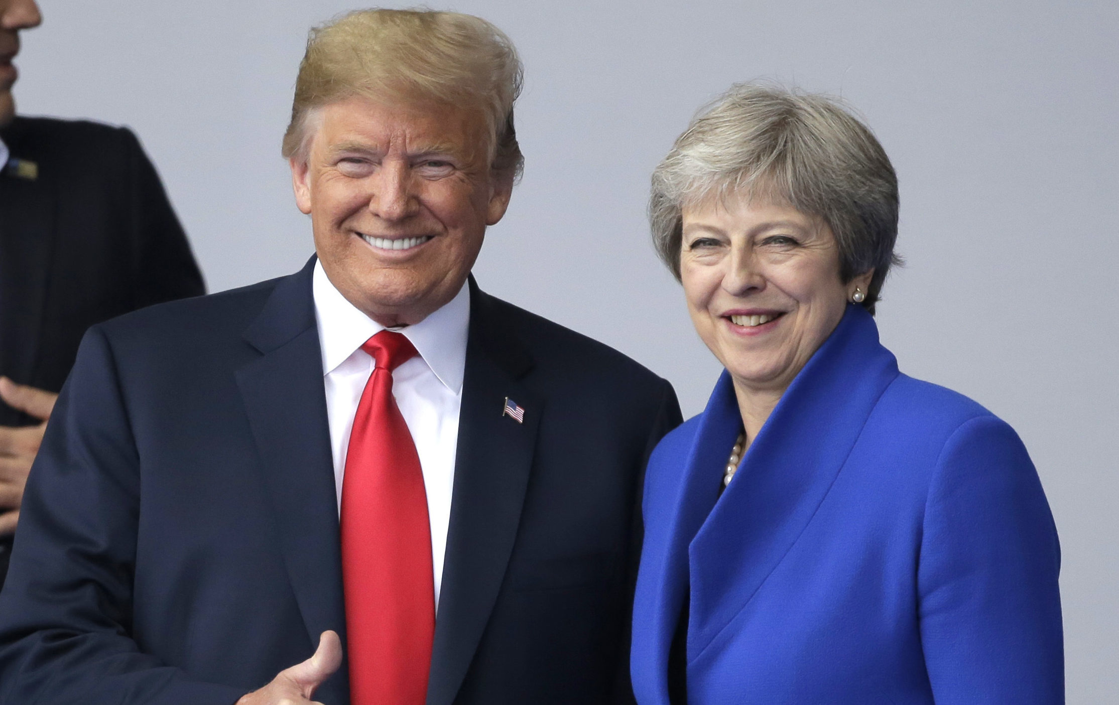 Donald Trump and Theresa May (AP Photo/Markus Schreiber)