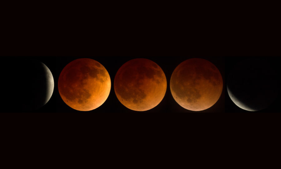 'Blood moon' dazzles skygazers across the world in century's longest lunar eclipse