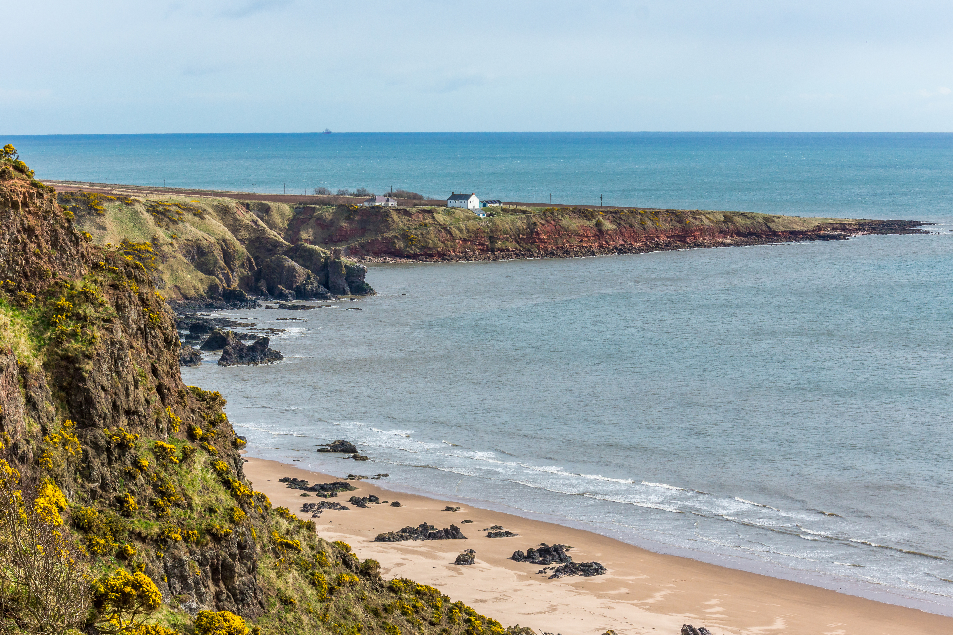 St. Cyrus cliff and headland