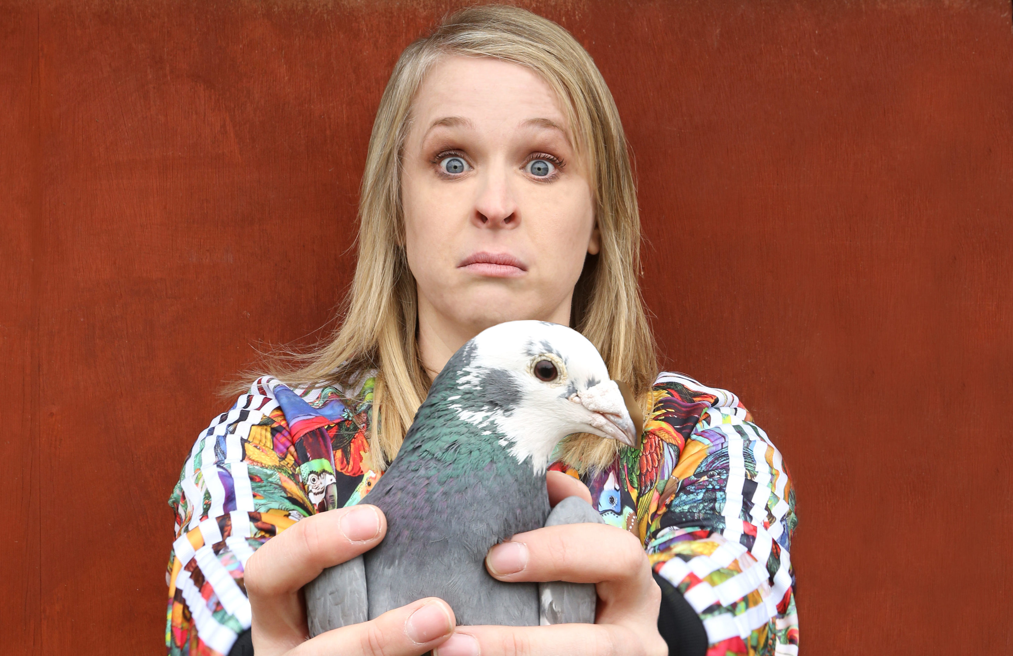 Hayley Ellis with a prized pigeon (Andy Hollingworth)