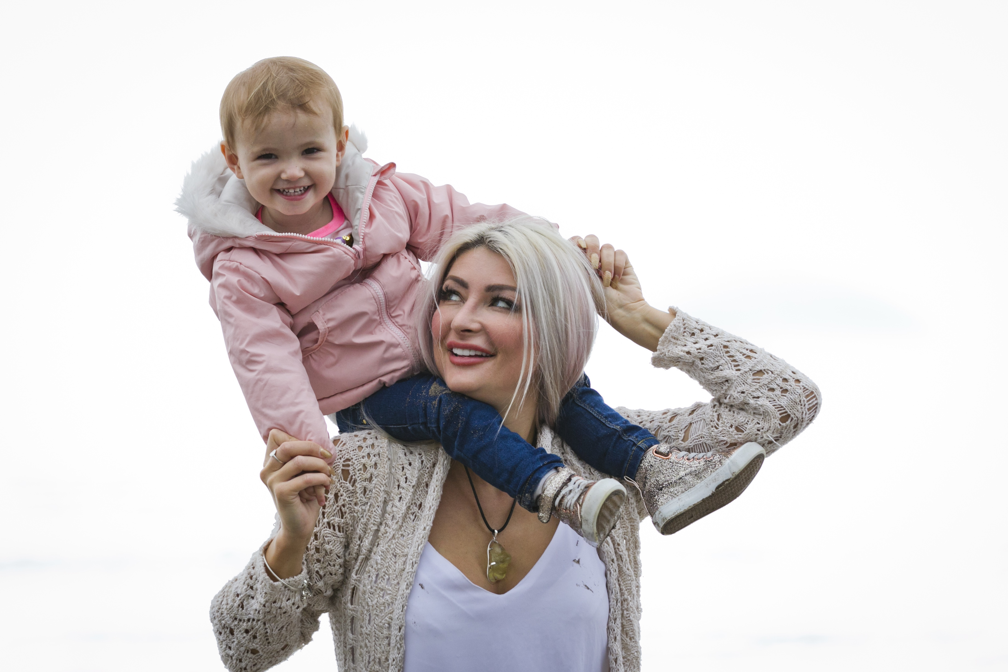 Former model Heather McCartney and daughter Annah (Andrew Cawley / DC Thomson)