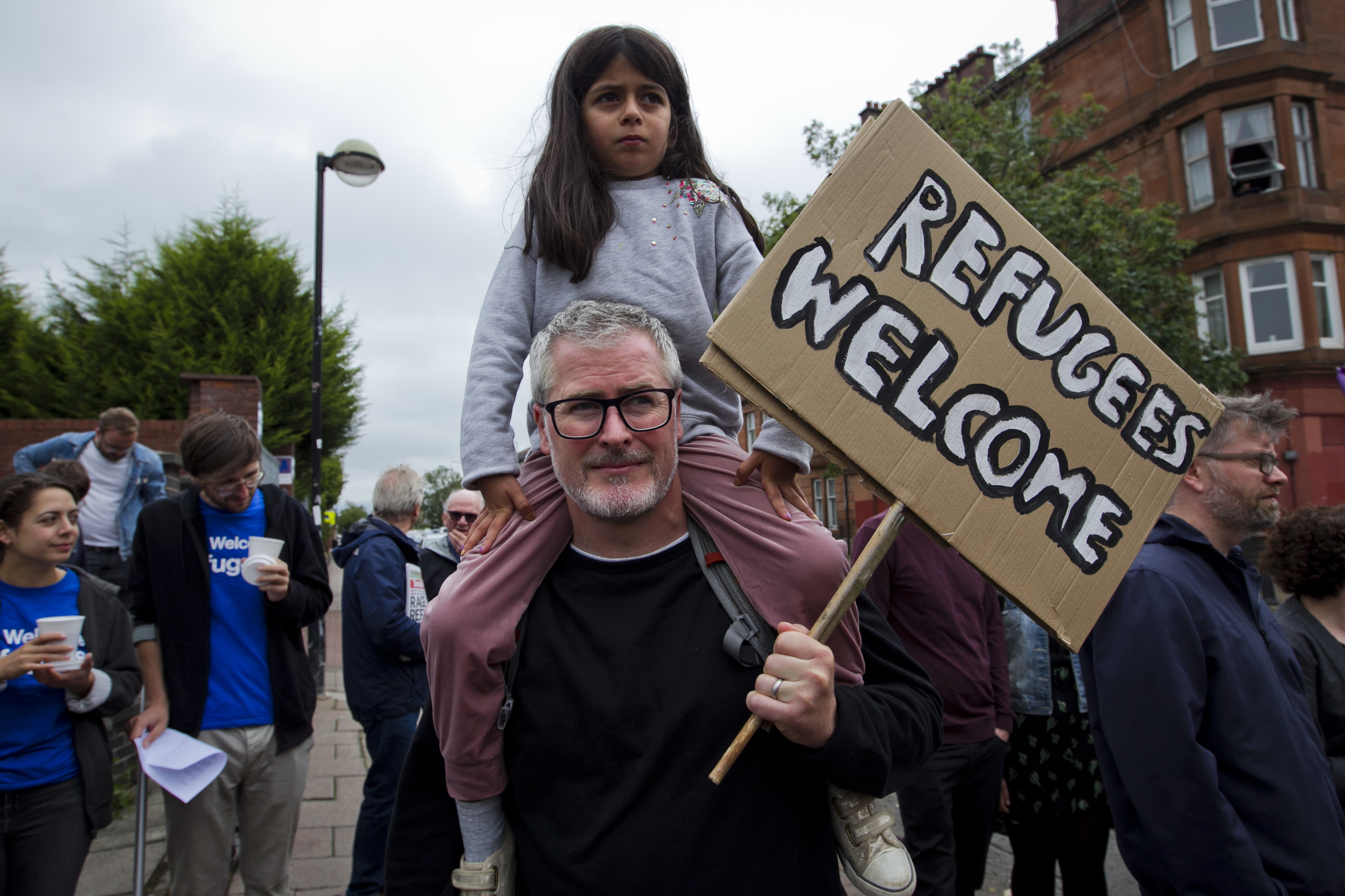 A demonstration outside the Home Office building in Glasgow (Andrew Cawley / DC Thomson)