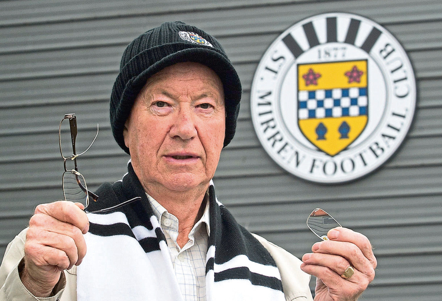 Life-long fan Ernie Lang says St Mirren's attitude to his injury and broken glasses is like a slap in the face (Mick McGurk)