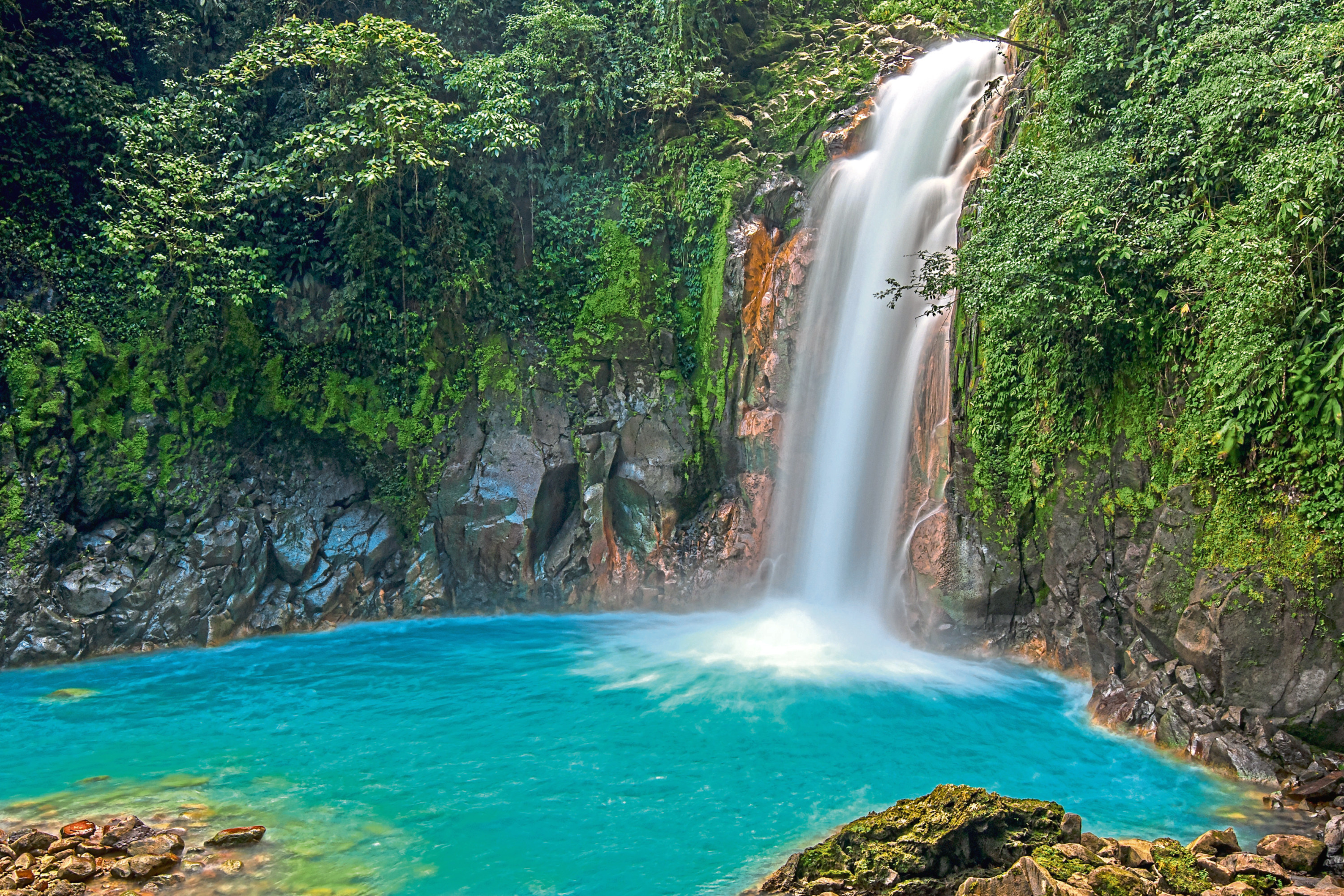 Rio Celeste Waterfall in Costa Rica, a country of immense beauty – and spiders!