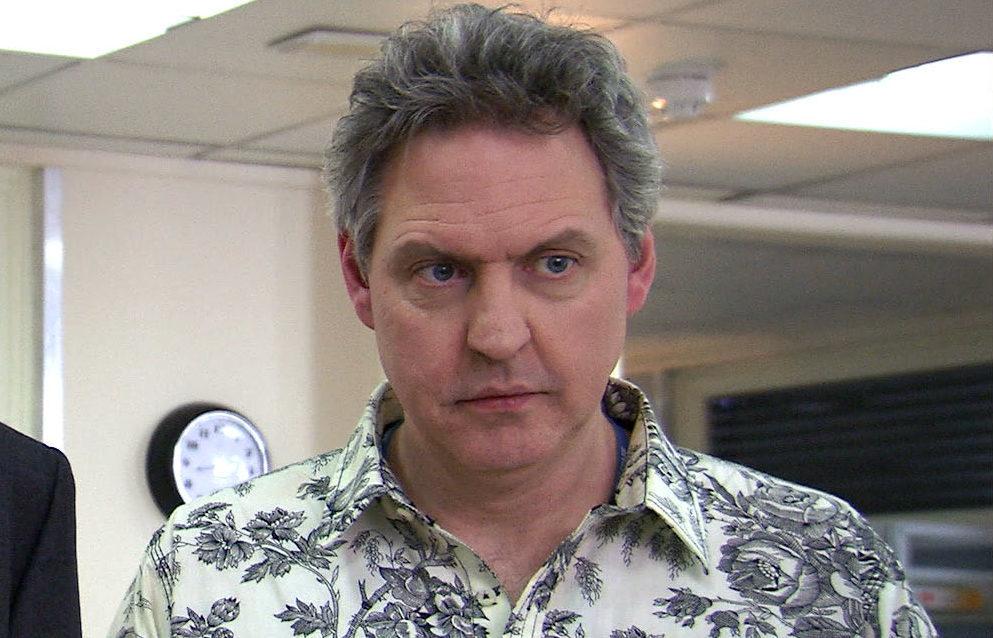 Bob Barrett as Sacha Levy in Holby City (BBC)
