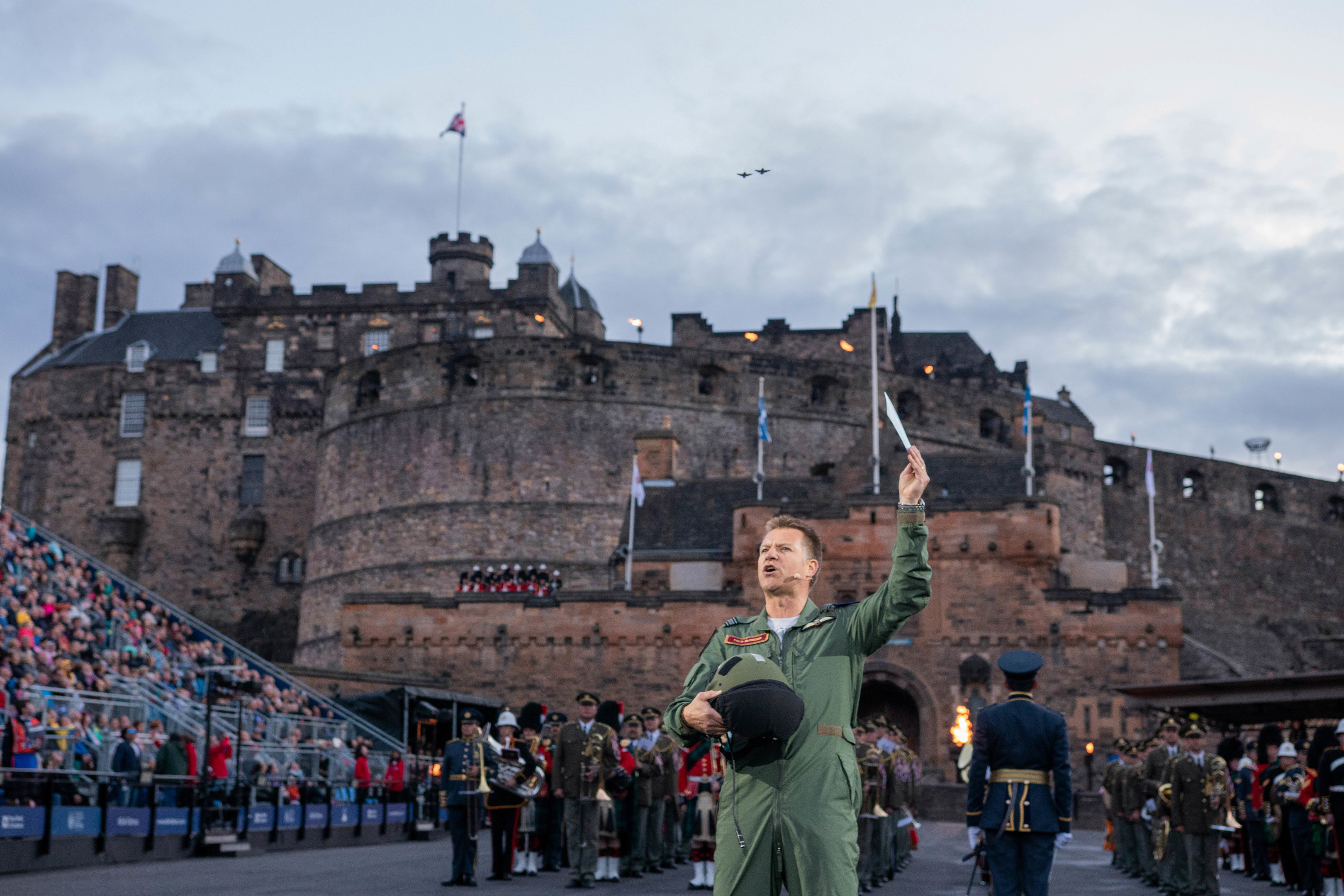 Colin recites the poem (The Royal Edinburgh Military Tattoo)