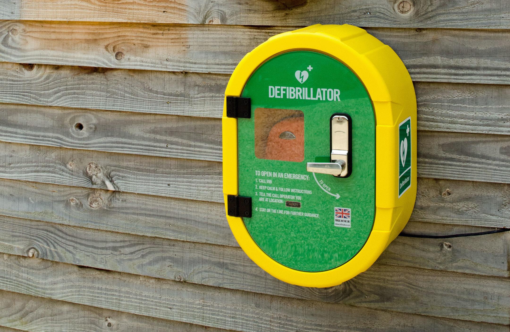 A defibrillator (Stuart Askew/BHF/PA Wire)