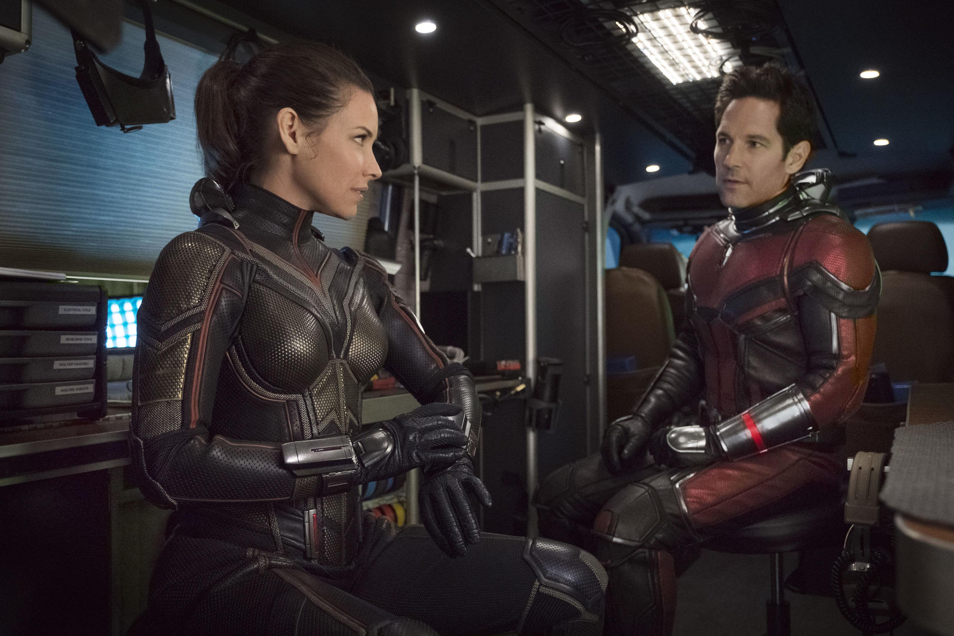 Evangeline Lilly as Hope van Dyne/The Wasp and Paul Rudd as Scott Lang/Ant-Man (PA Photo/Marvel Studios/Ben Rothstein)