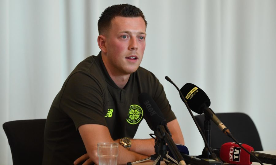 Celtic's Callum McGregor speaks to the press (SNS Group / Craig Williamson)