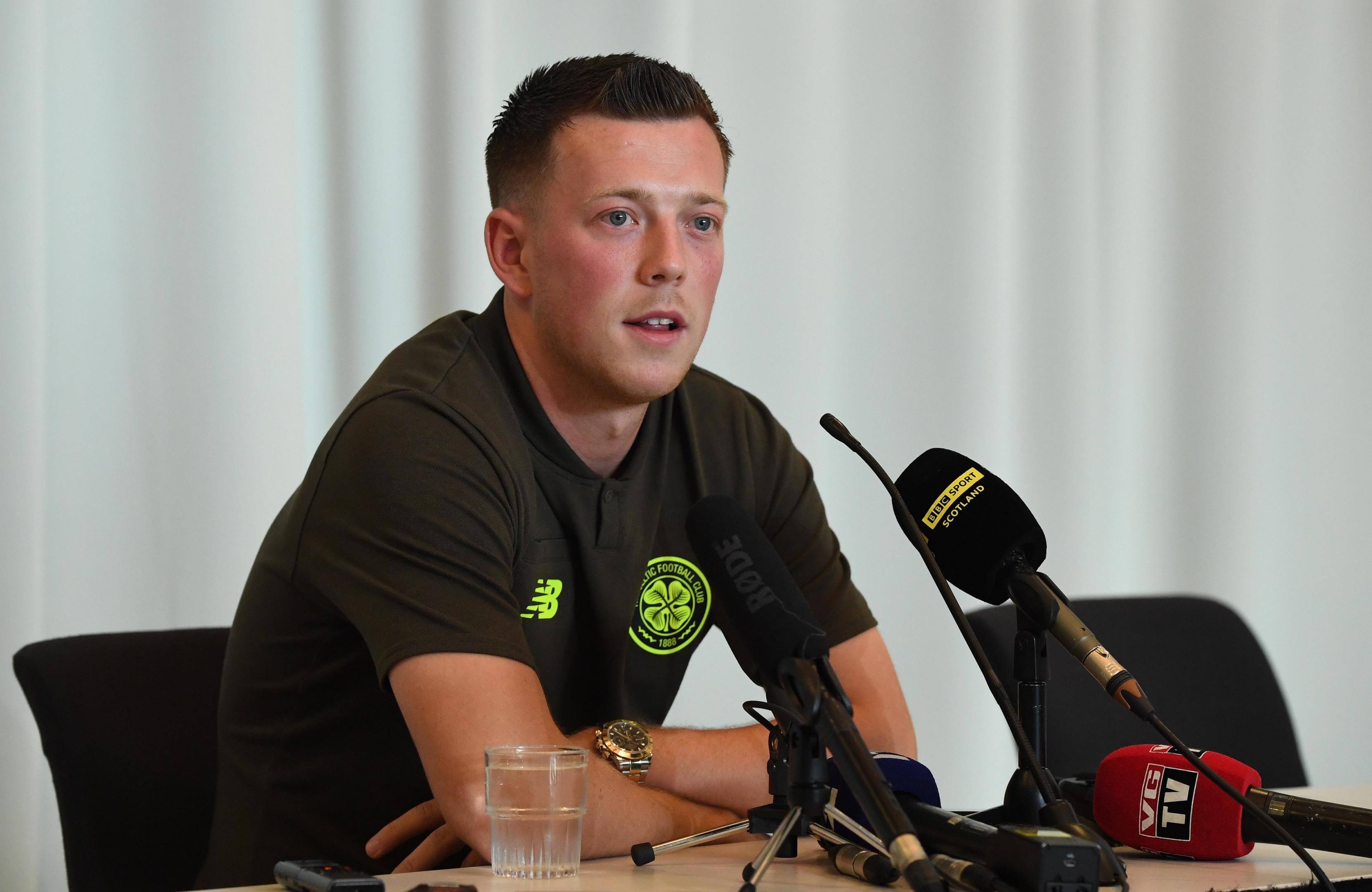Celtic's Callum McGregor speaks to the press (SNS Group / Craig Williamson)