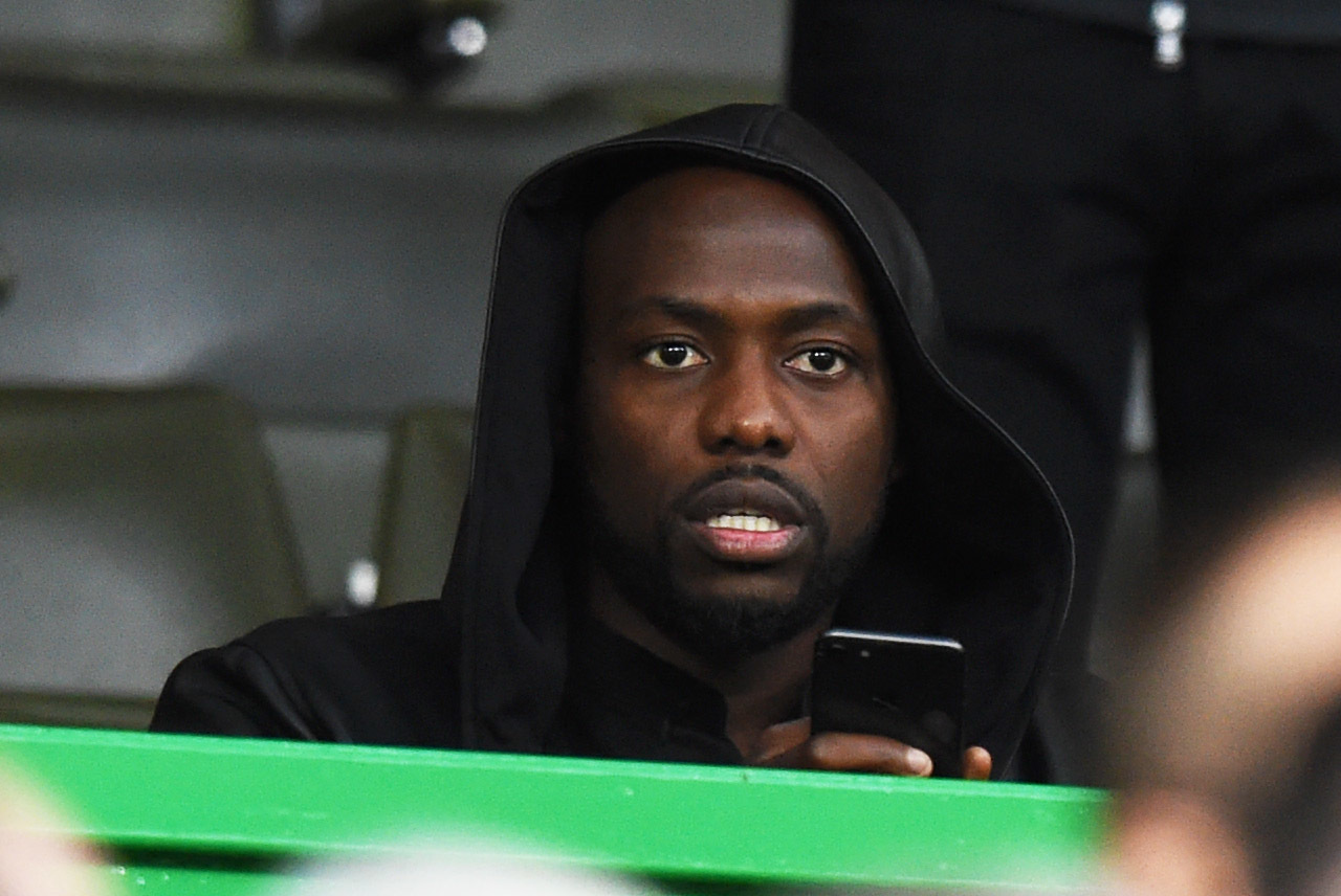 Youssouf Mulumbu in the stands at Celtic's Europa League qualifier last night (SNS Group)